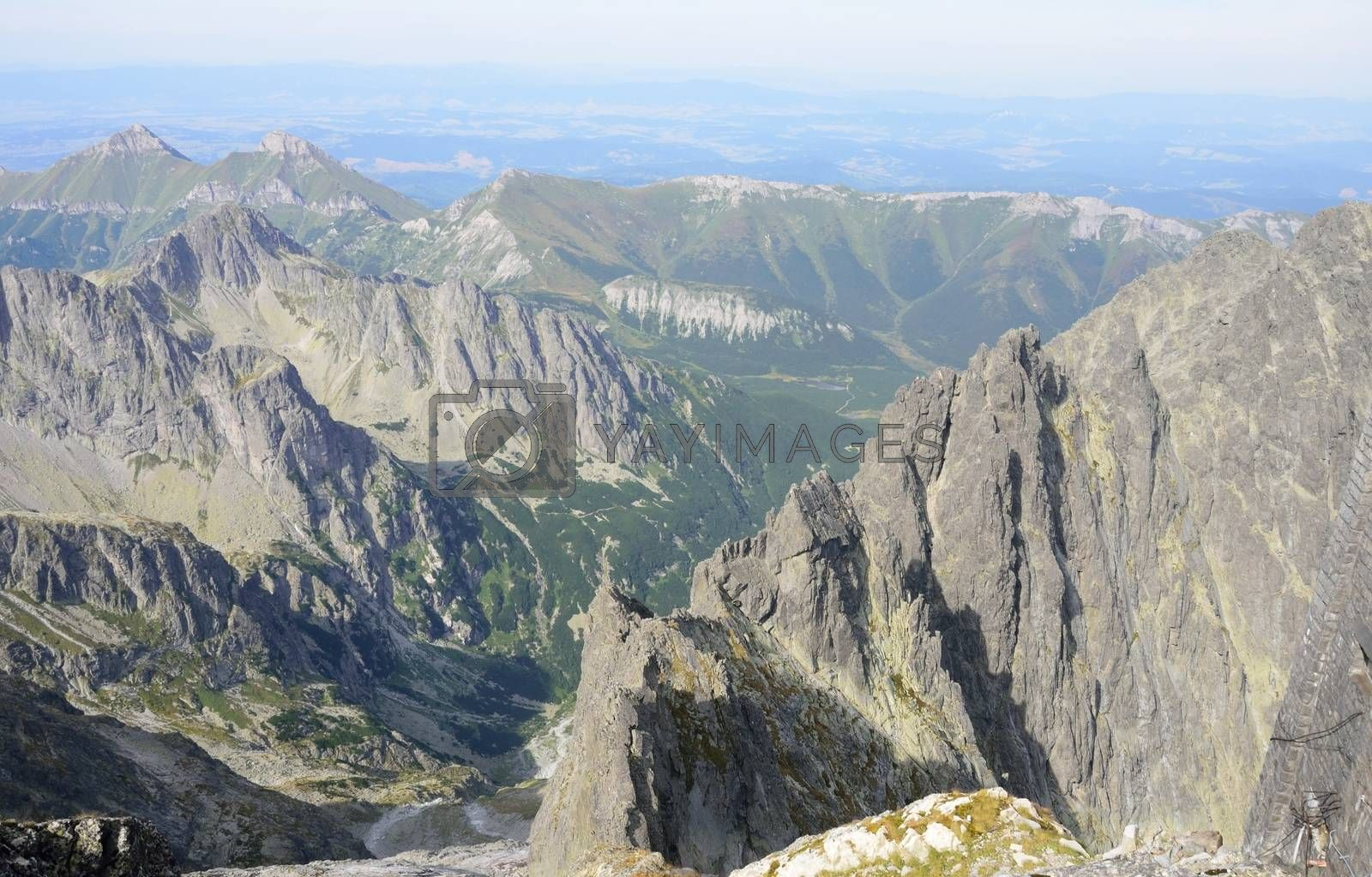 View of tatra mountains from Lomnicky stit