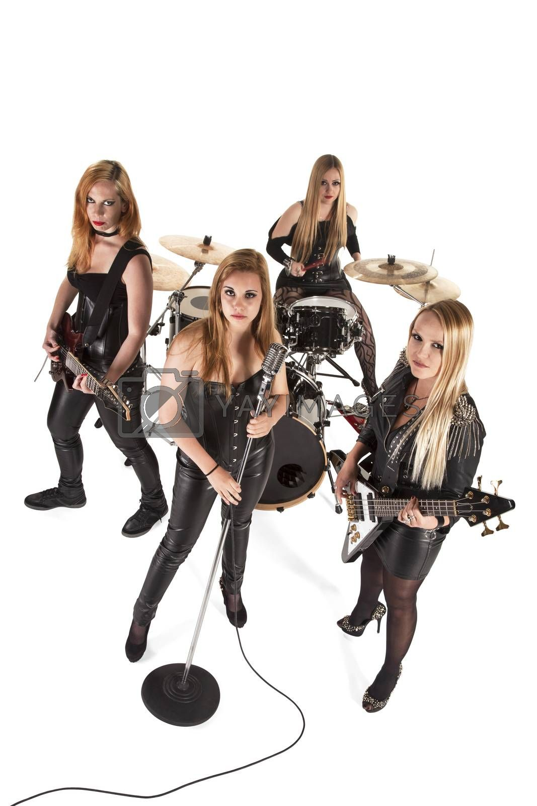 Portrait of female music band by Aarstudio
