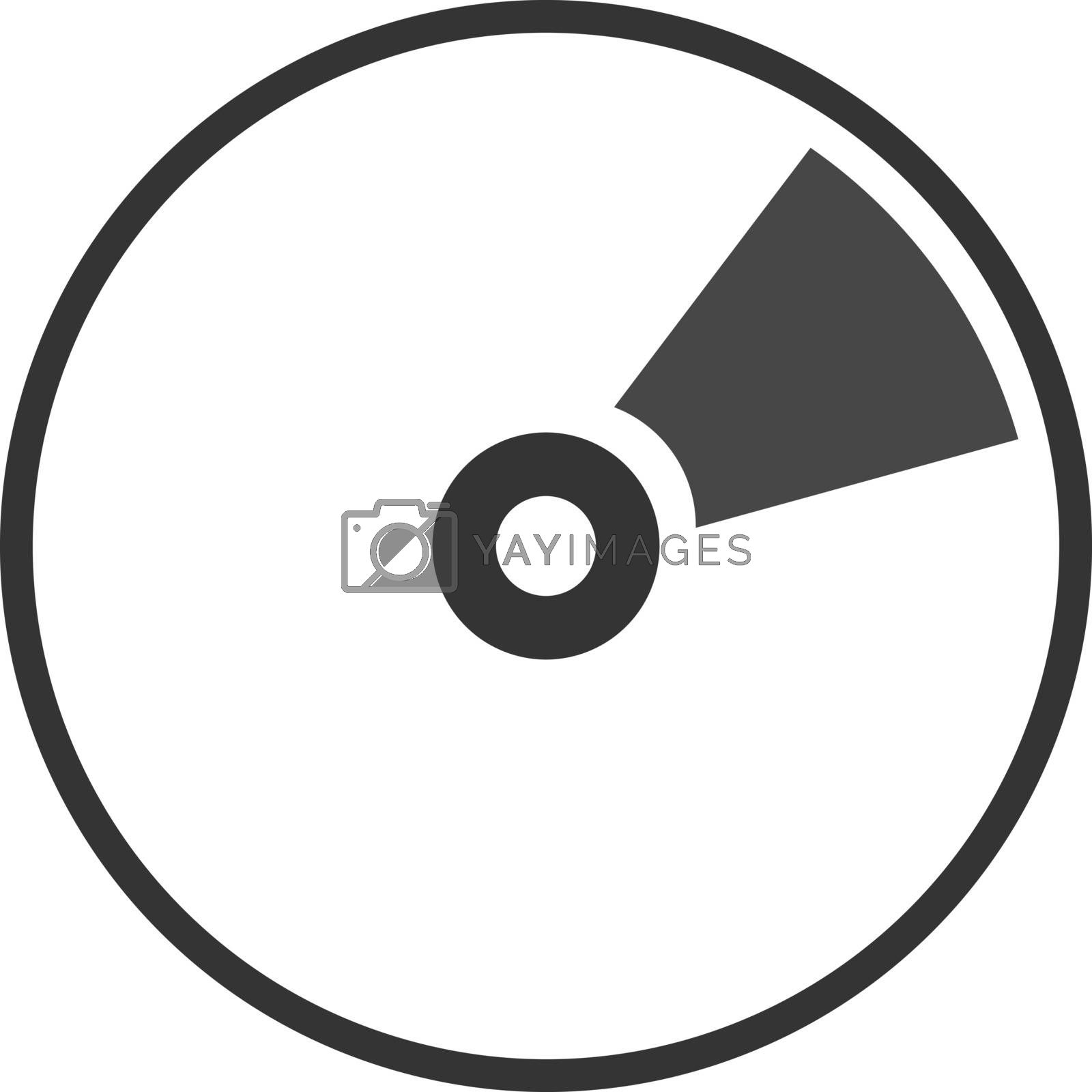 CD DVD Blue ray icon flat illustration