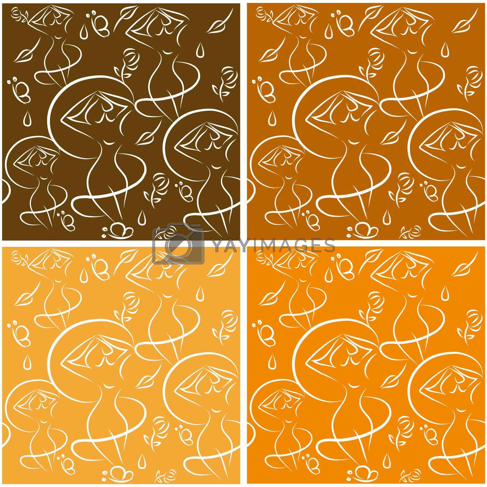 Set of seamless backgrounds by IconsJewelry