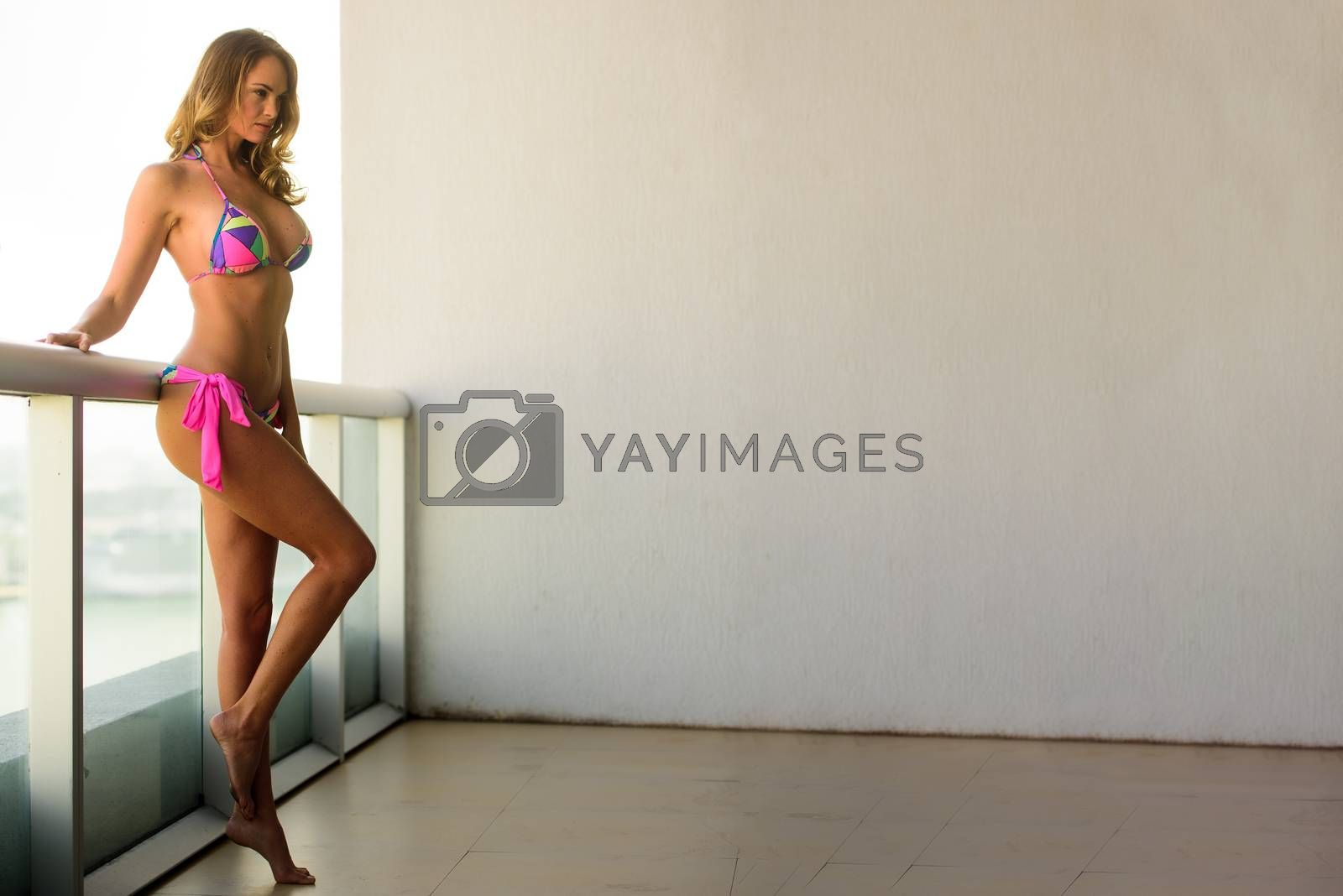Image of an attractive young woman posing