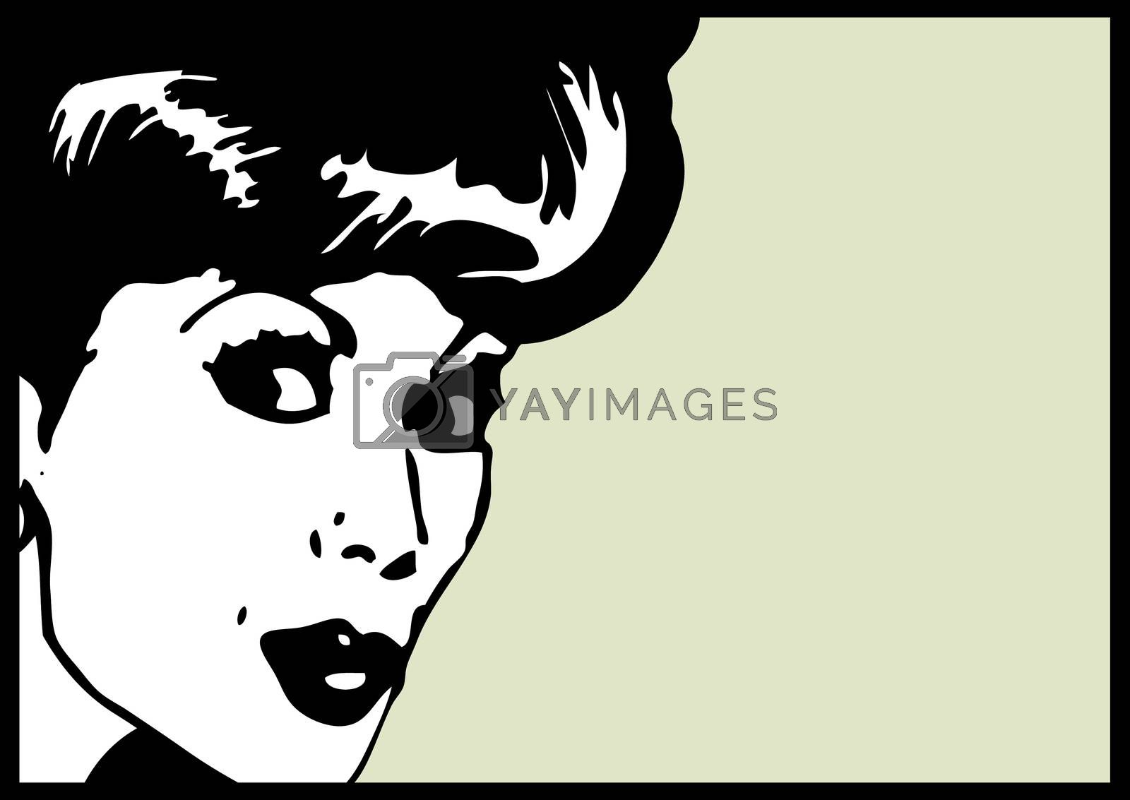 Vintage Clip Art Woman Secret card