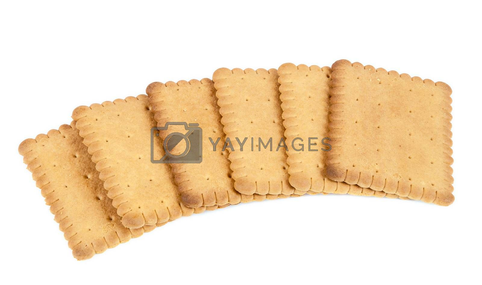 Royalty free image of Biscuits on white background by mkos83