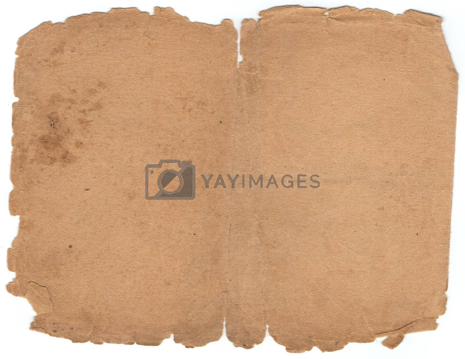 Royalty free image of brown old paper by CherJu