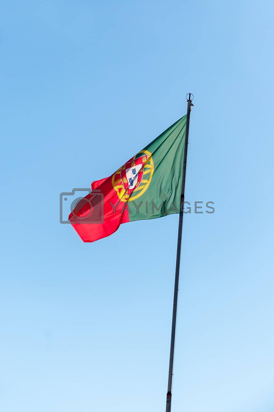 Royalty free image of Waving Portuguese flag by mkos83