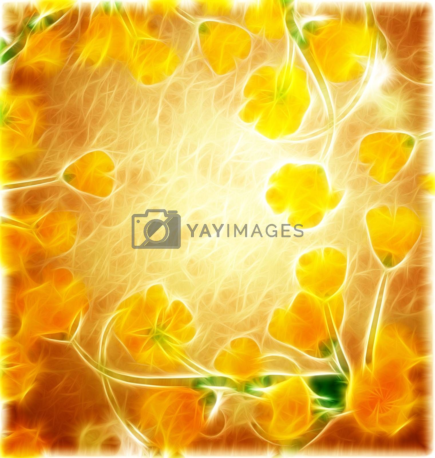 Royalty free image of yellow grunge nature illustration by CherJu