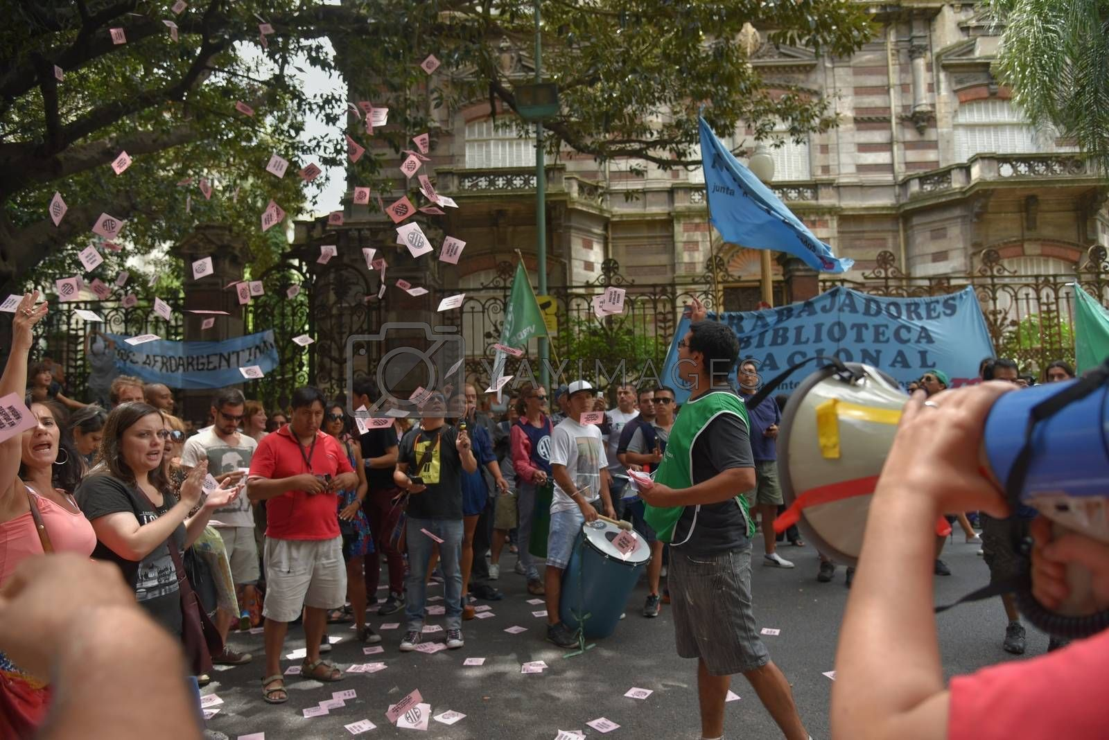Royalty free image of ARGENTINA - BUENOS AIRES - PROTESTS by newzulu