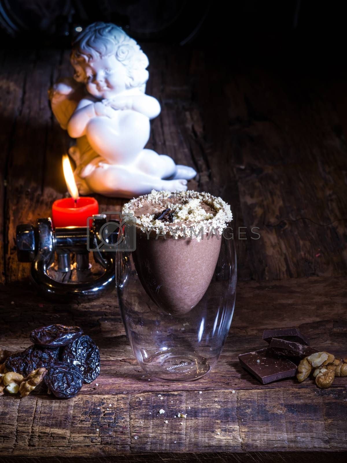 Royalty free image of Cup of cacao with chocolate  by sarymsakov