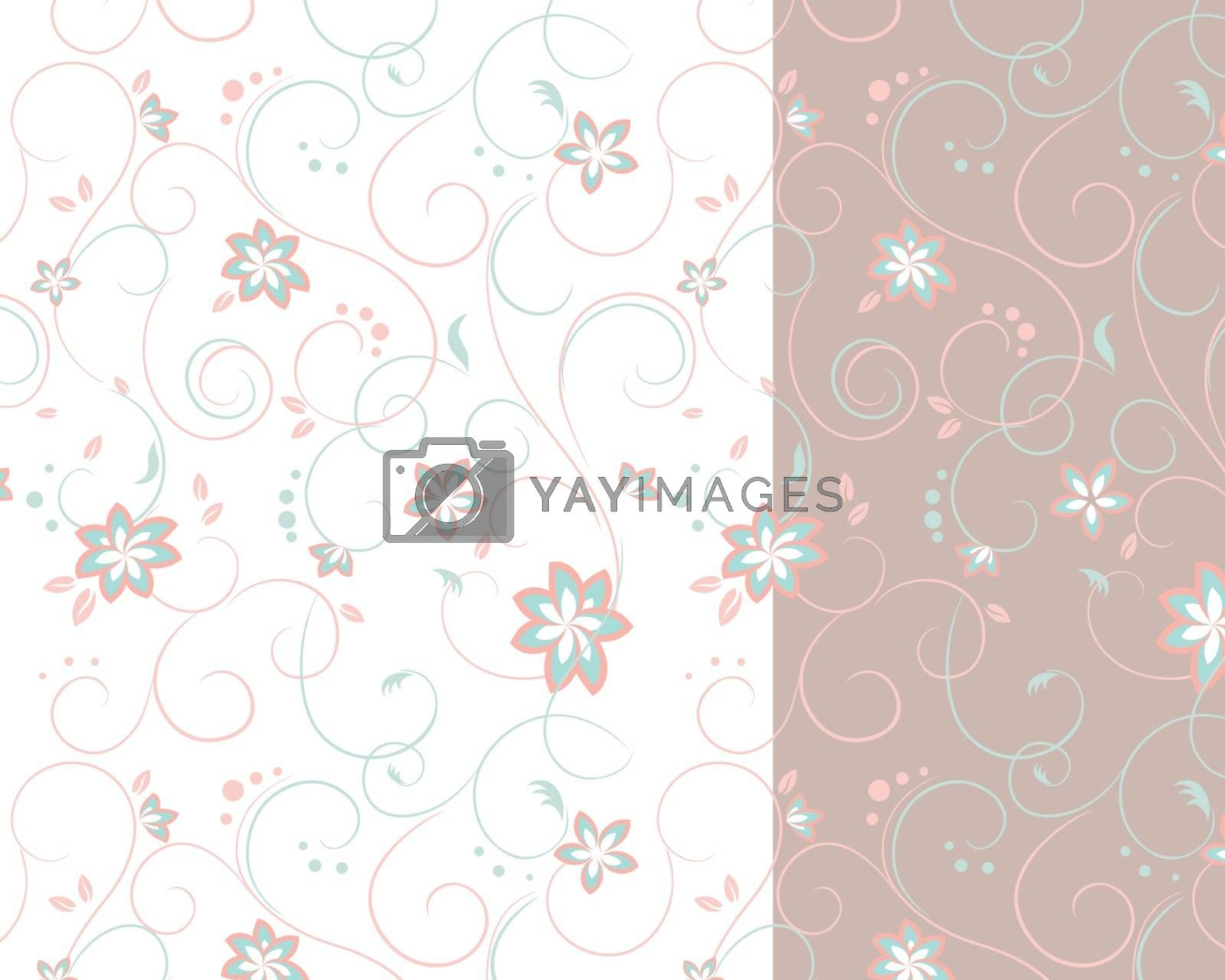 Royalty free image of Two-colored background of flowers by sergeevana