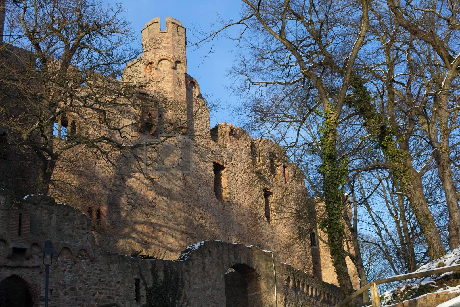 Ruins castle Auerbach (Auerbacher castle) by HdDesign