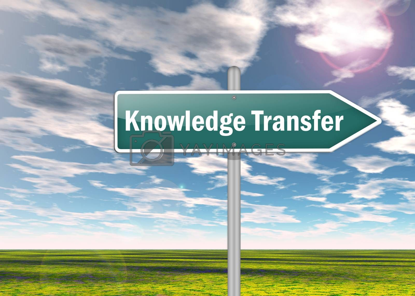 "Royalty free image of Signpost ""Knowledge Transfer"" by mindscanner"