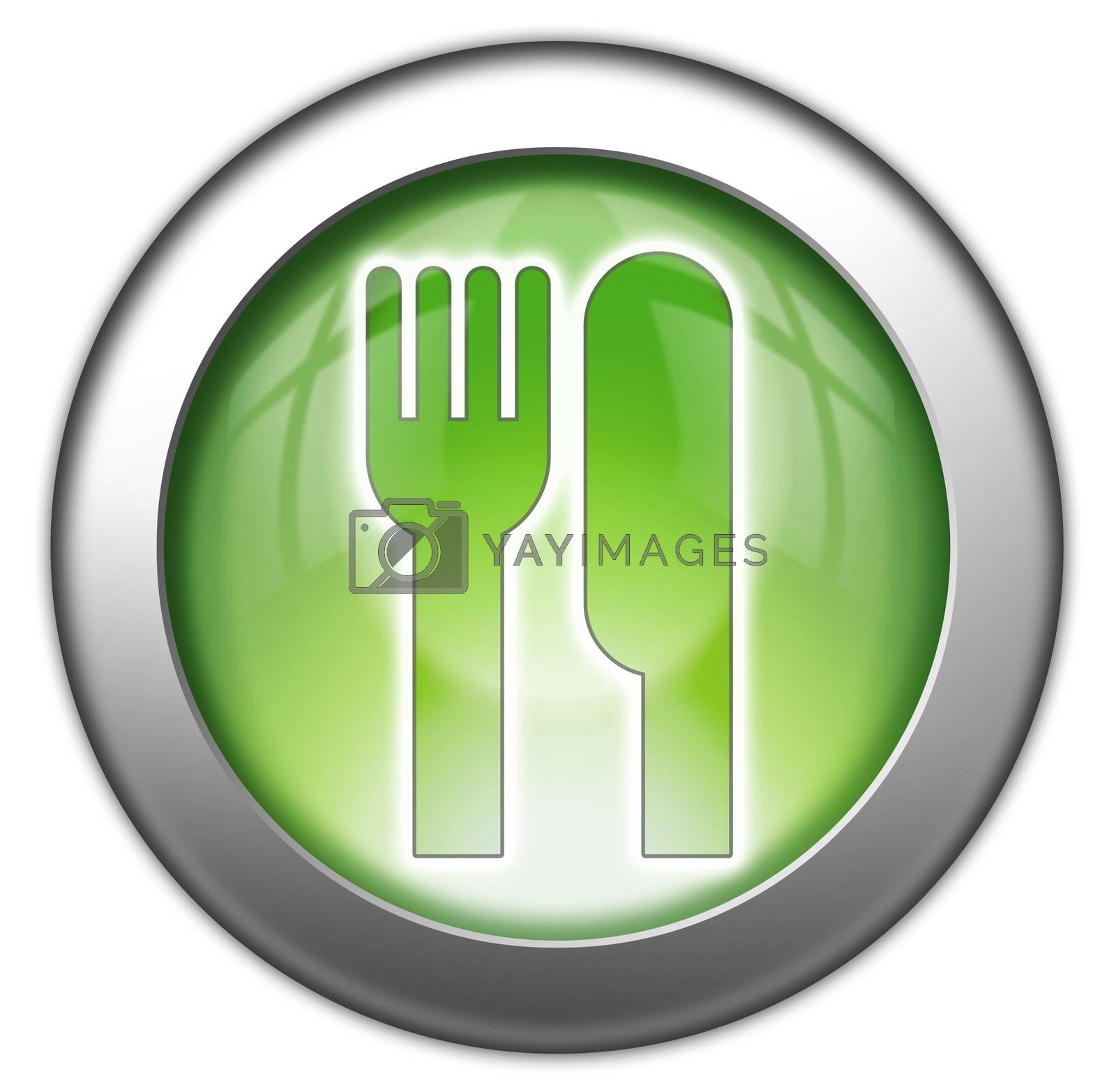Royalty free image of Icon, Button, Pictogram -Eatery, Restaurant- by mindscanner
