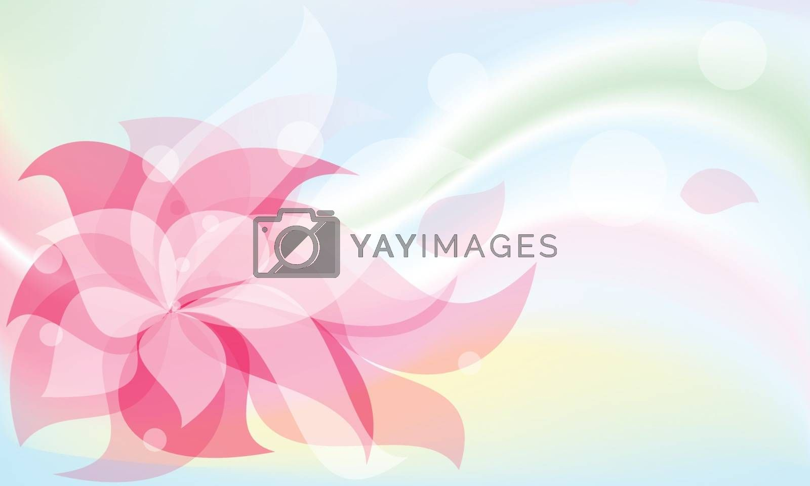 background red flower  by sergeevana
