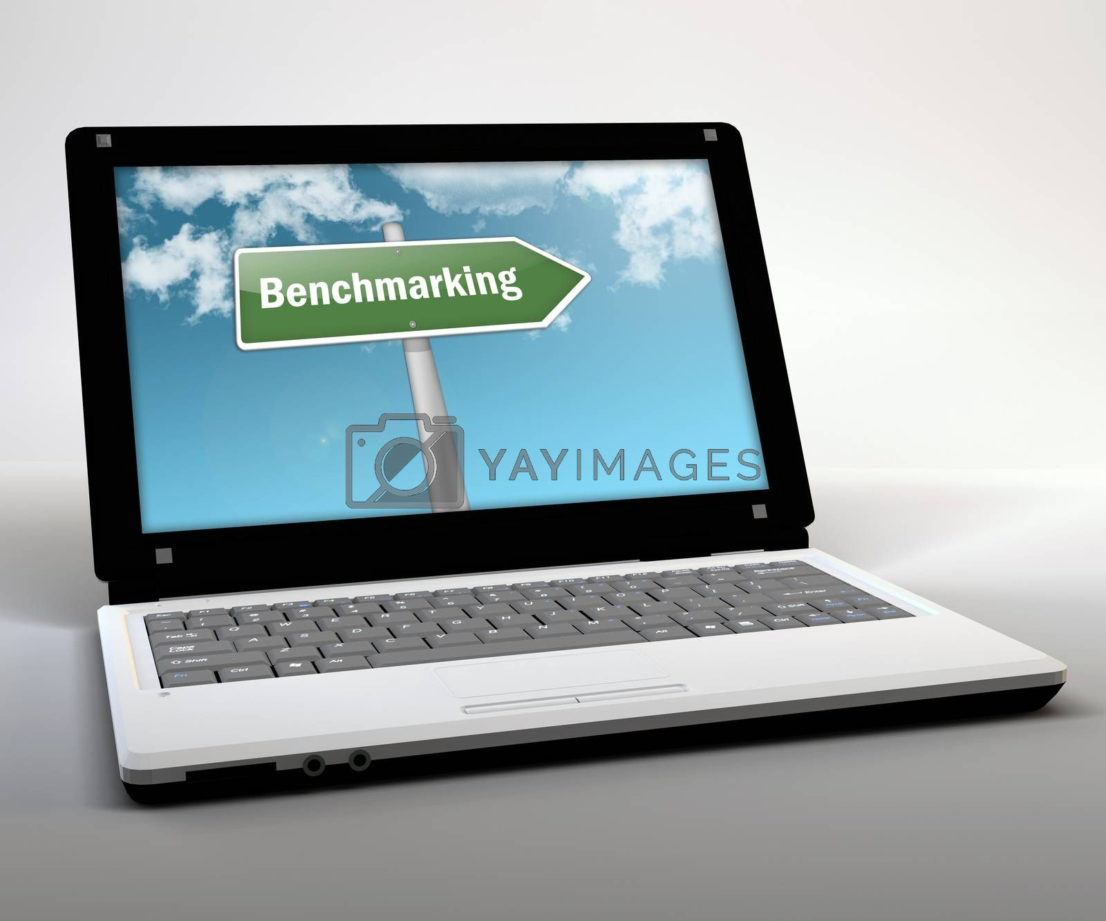 """Royalty free image of Mobile Thin Client """"Benchmarking"""" by mindscanner"""