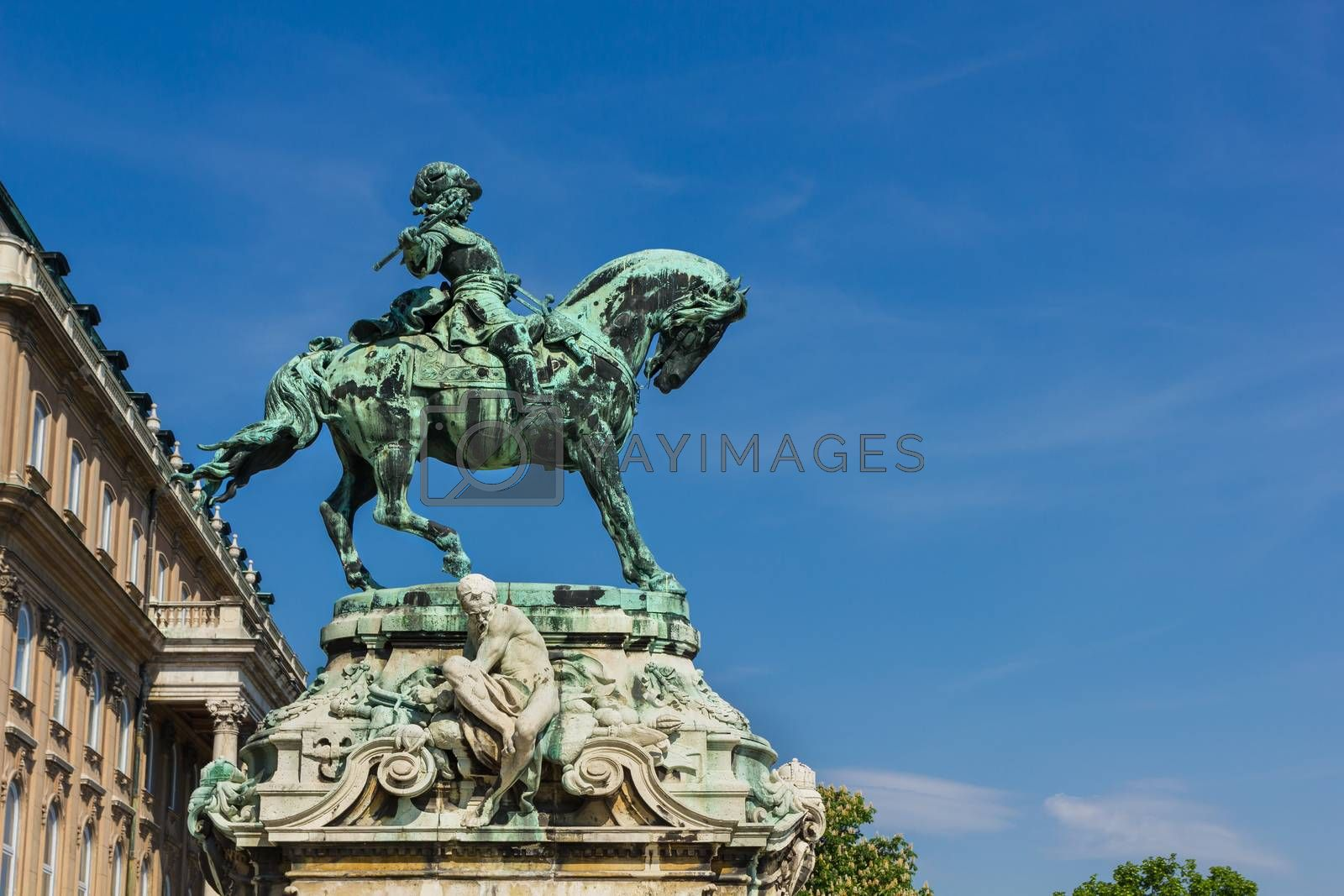 Royalty free image of Statue of Prince Eugene of Savoy in Budapest Hungary by marugod83