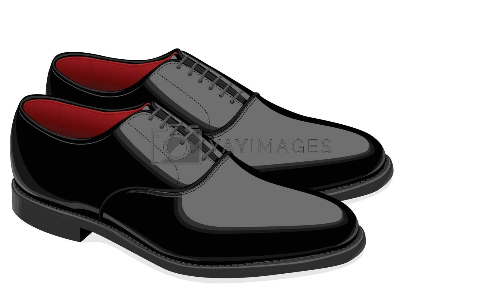 Royalty free image of Black men shoes  by sergeevana