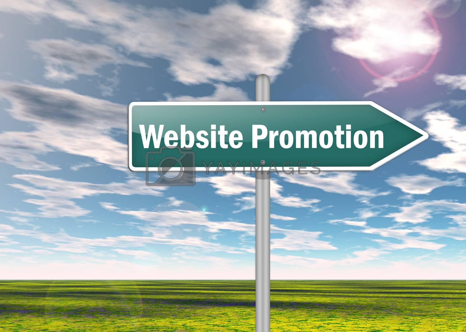 "Royalty free image of Signpost ""Website Promotion"" by mindscanner"