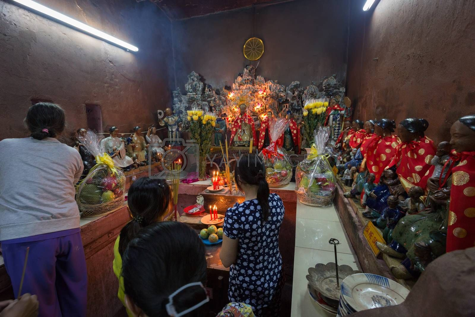 Royalty free image of SAIGON, VIETNAM - JANUARY 27, 2014: Altar in Emperor Jade by fisfra