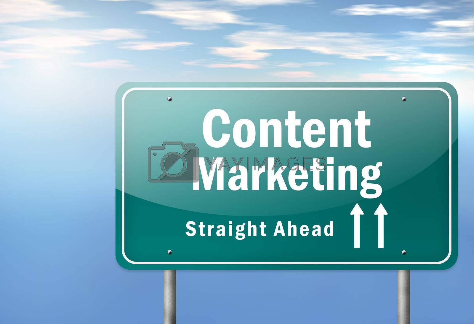 Royalty free image of Highway Signpost Content Marketing by mindscanner