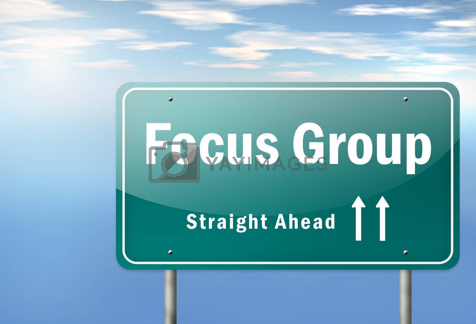 Royalty free image of Highway Signpost Focus Group by mindscanner