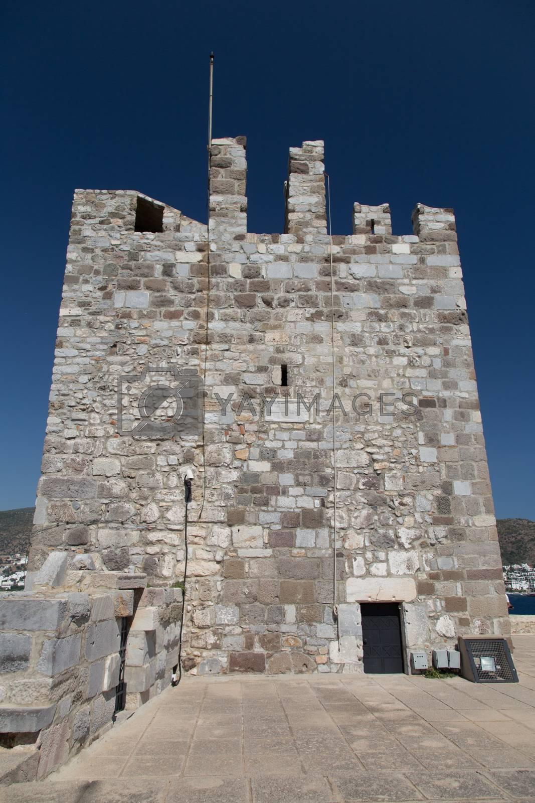 Tower of Bodrum Castle by EvrenKalinbacak