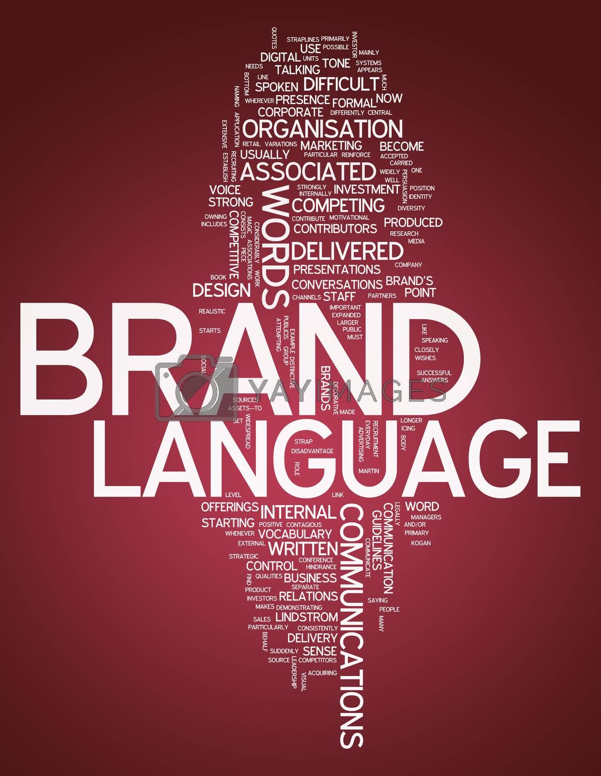 "Word Cloud ""Brand Language"" by mindscanner"