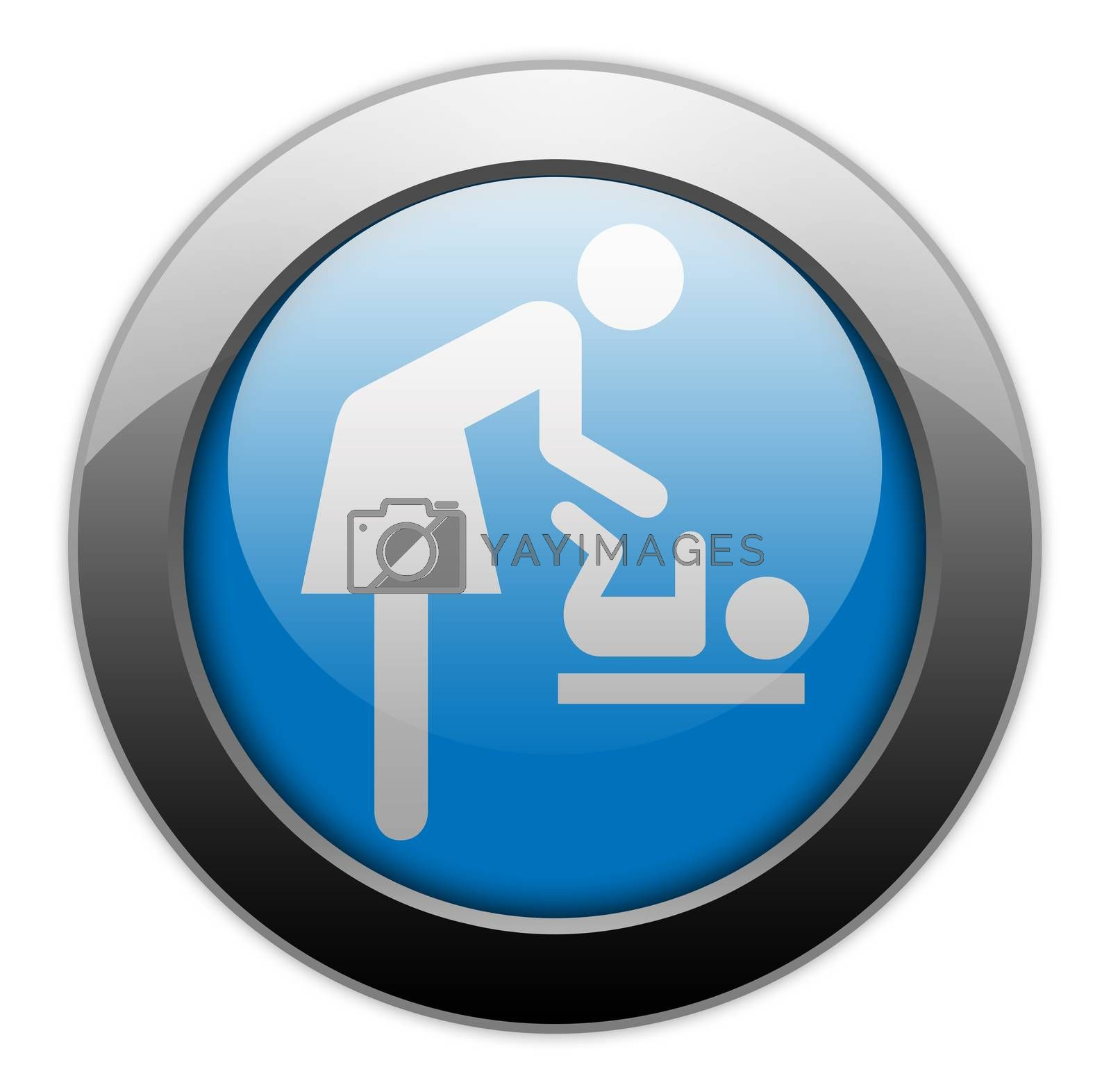 """Icon/Button/Pictogram """"Baby Change"""" by mindscanner"""