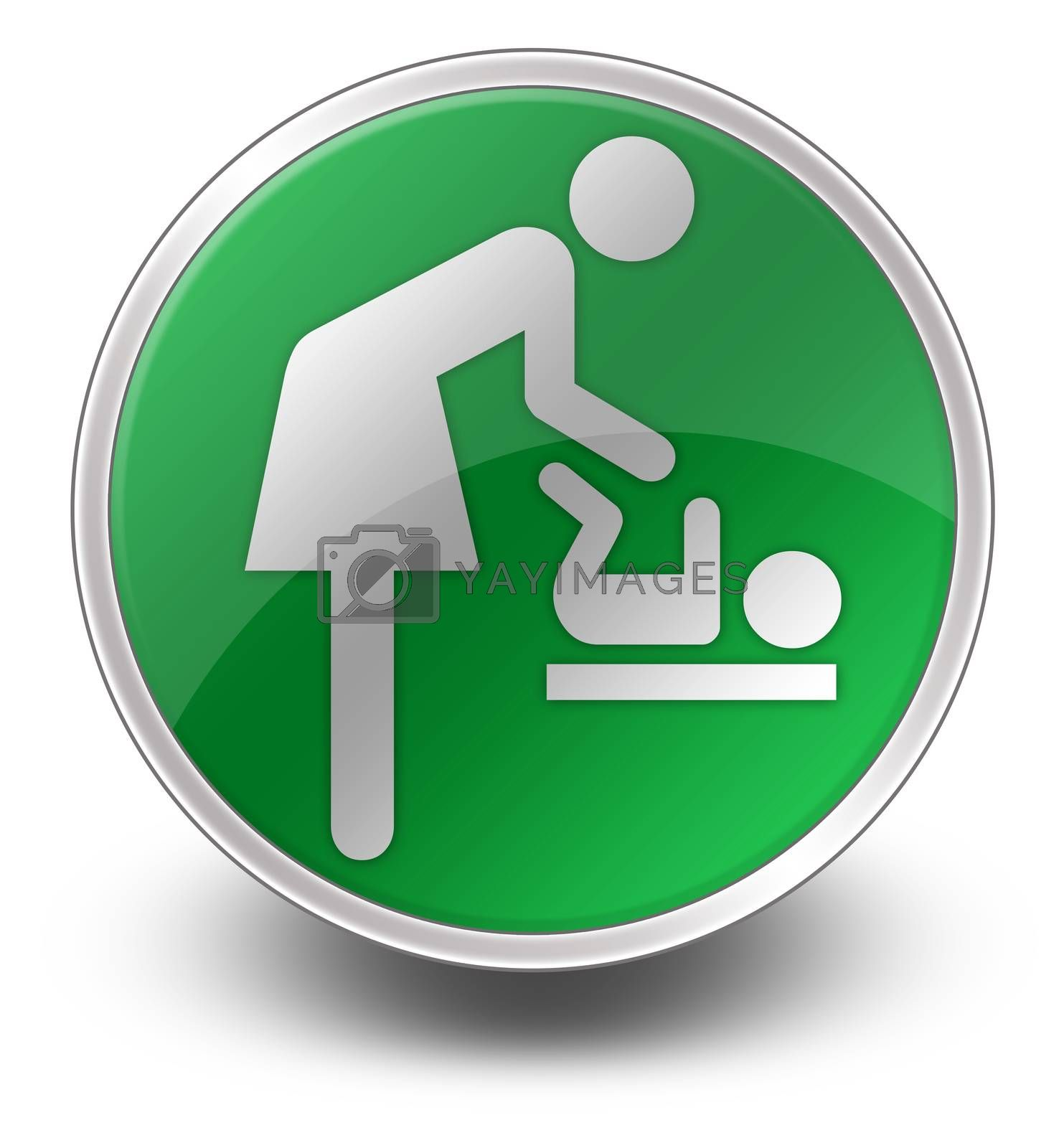"""Royalty free image of Icon/Button/Pictogram """"Baby Change"""" by mindscanner"""