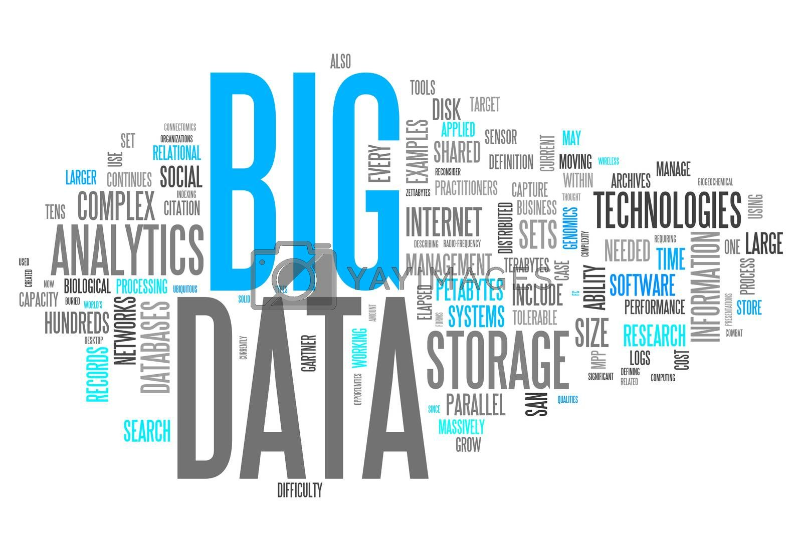 "Royalty free image of Word Cloud ""Big Data"" by mindscanner"