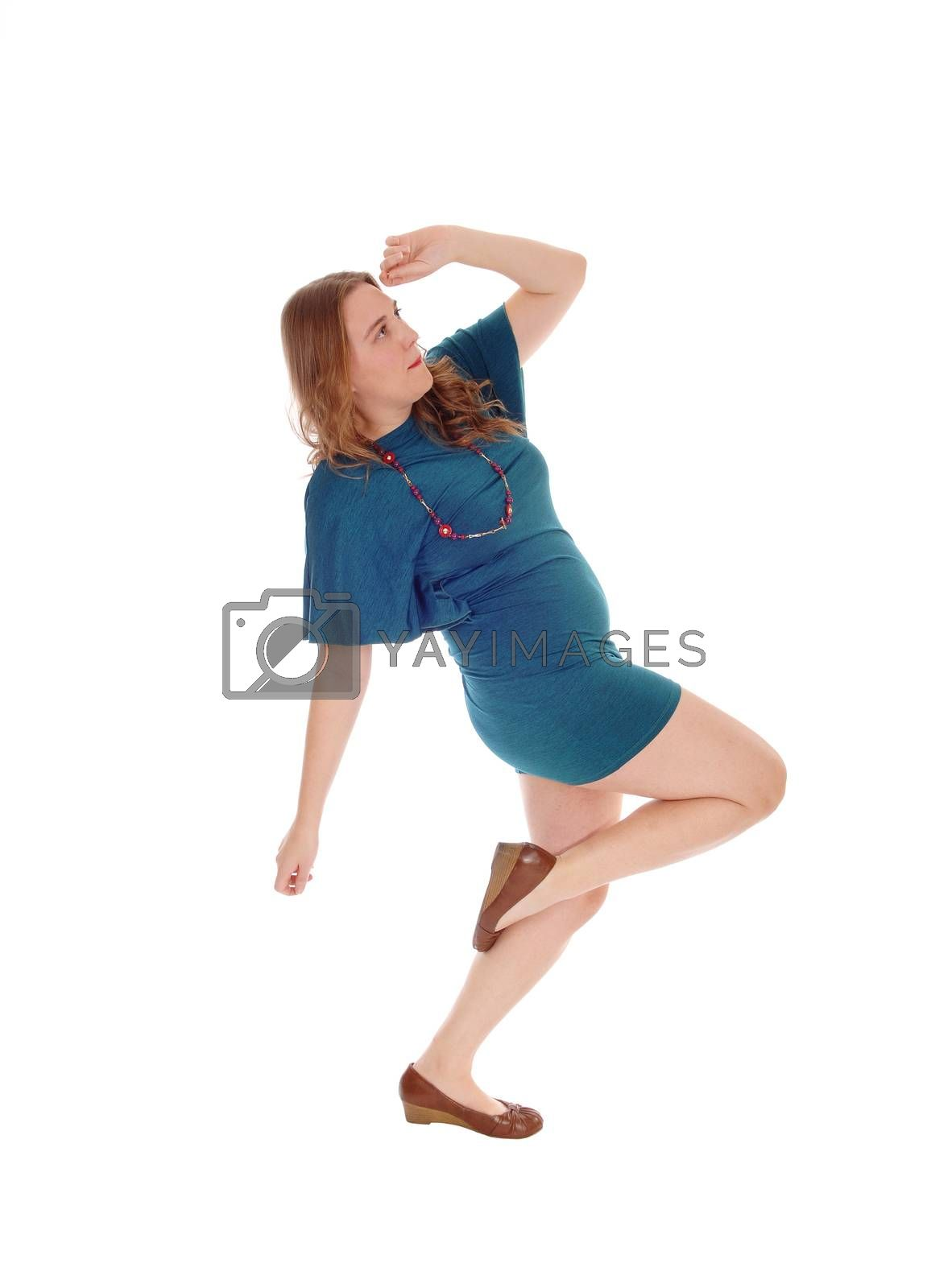 Royalty free image of Woman in dress dancing. by feierabend