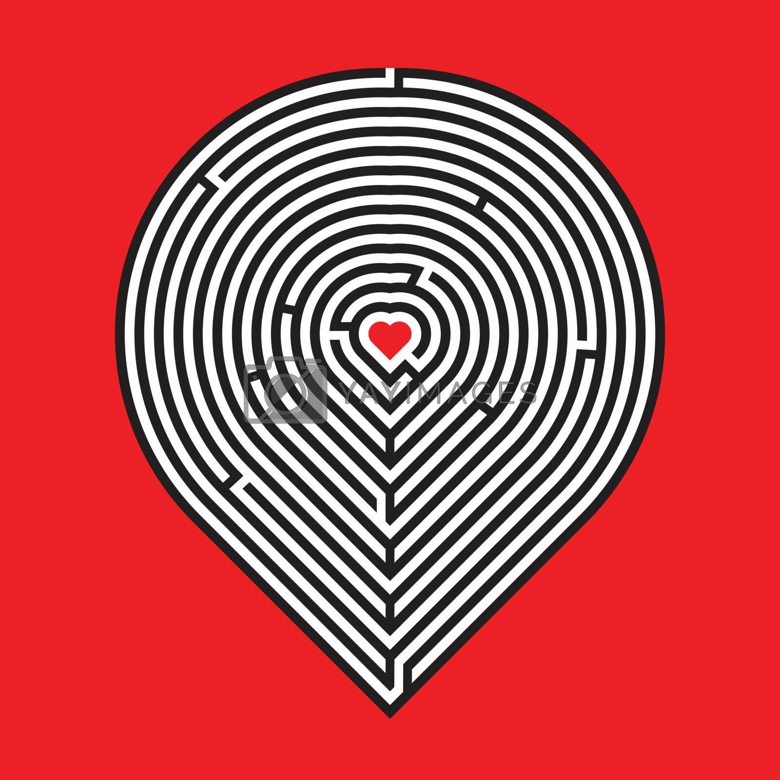 Royalty free image of heart maze by duntaro