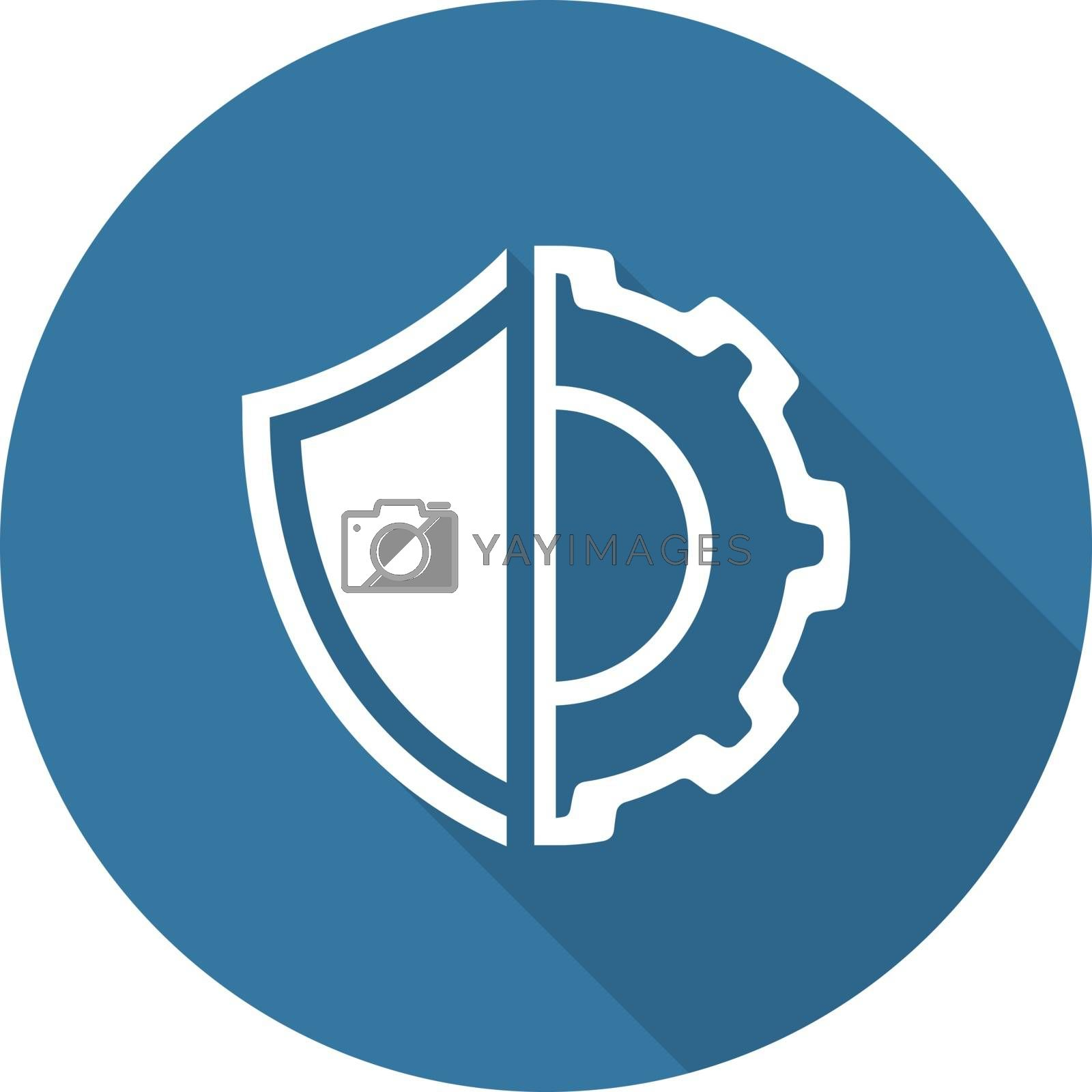 Royalty free image of Security Settings Icon. Flat Design. by WaD