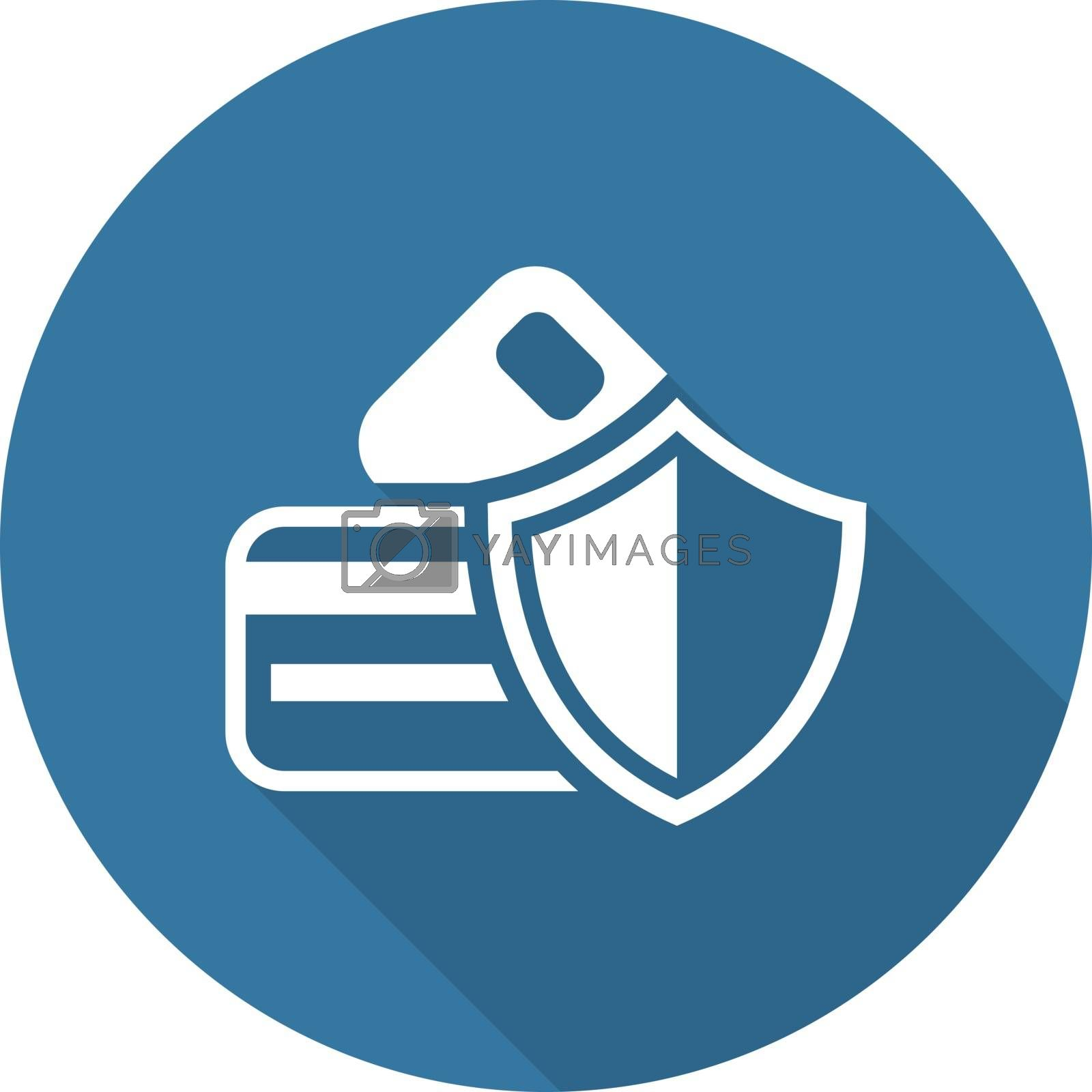 Secure Transaction Icon. Flat Design. by WaD
