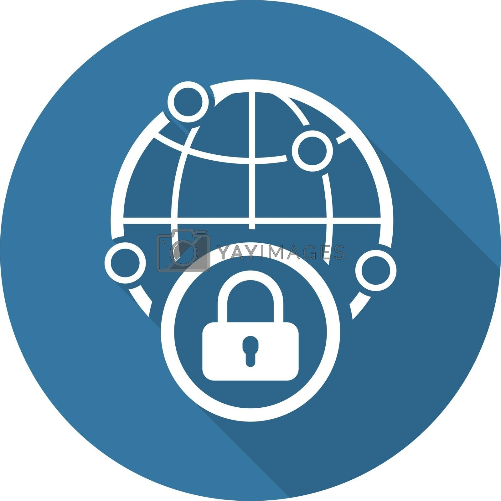 Royalty free image of Security Point Icon. Flat Design. by WaD