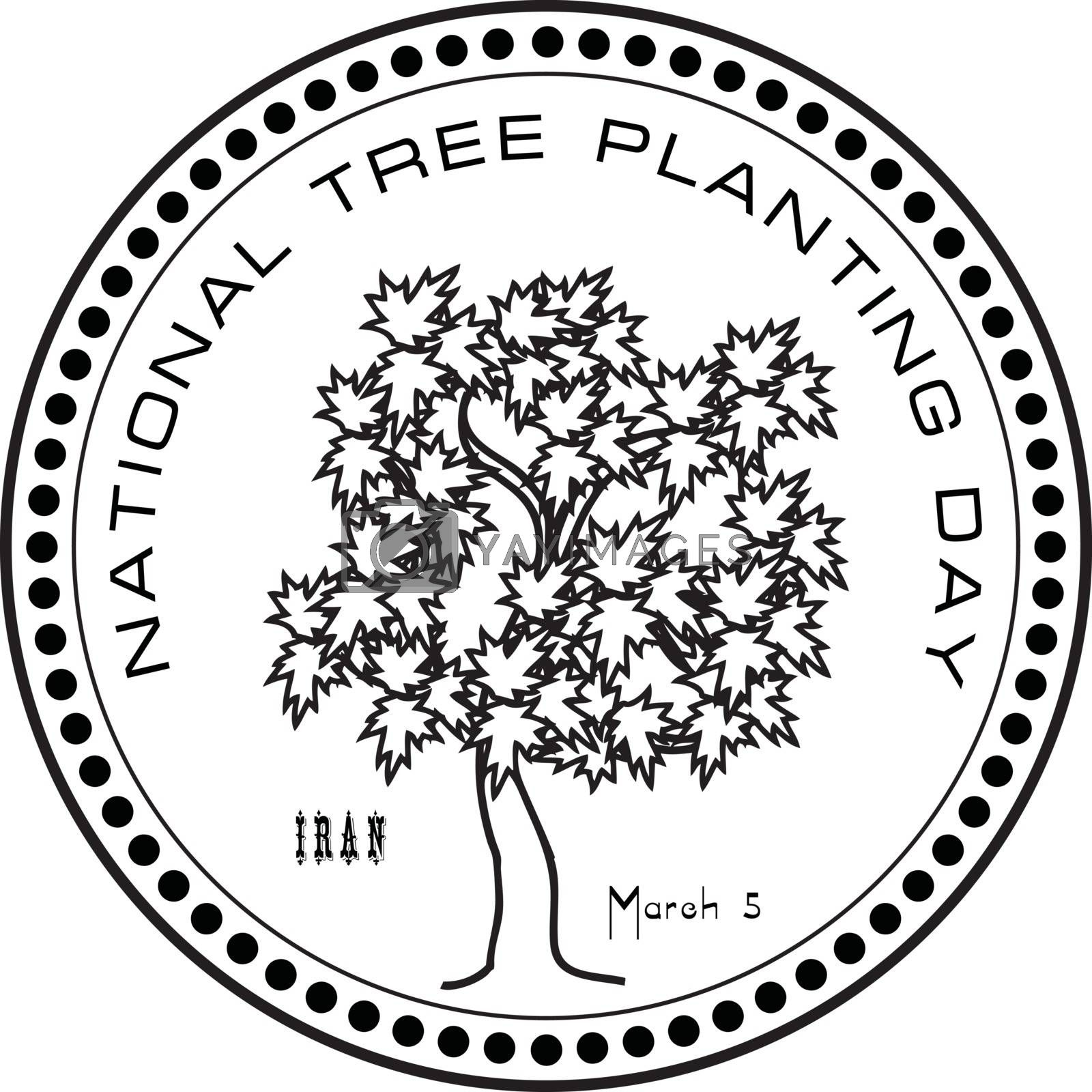 Royalty free image of National Tree Planting Day by VIPDesignUSA