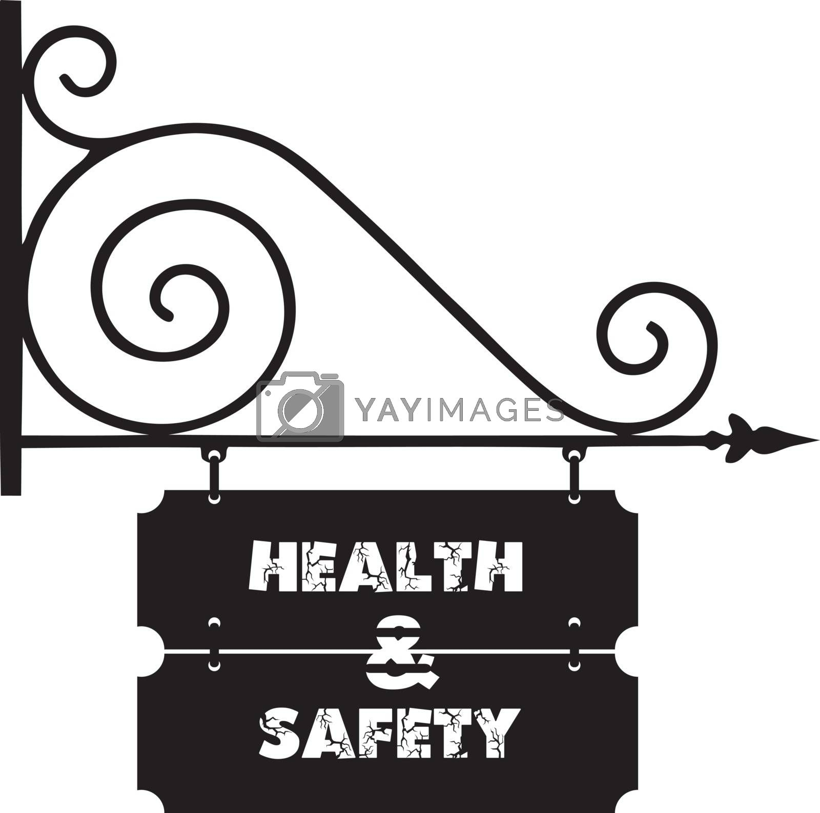 Royalty free image of Street signs on building health and safety by VIPDesignUSA