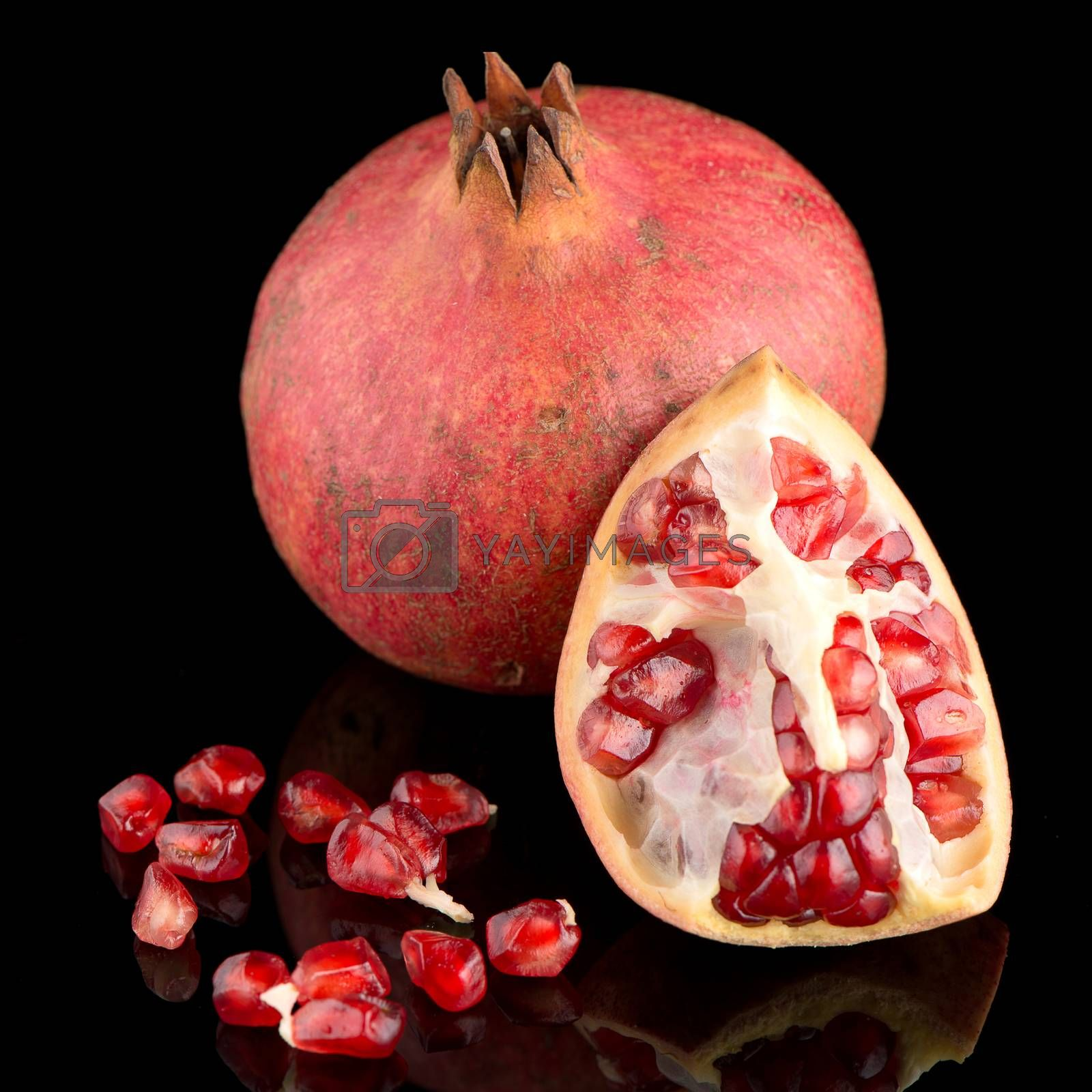 Royalty free image of Ripe pomegranate fruit by homydesign