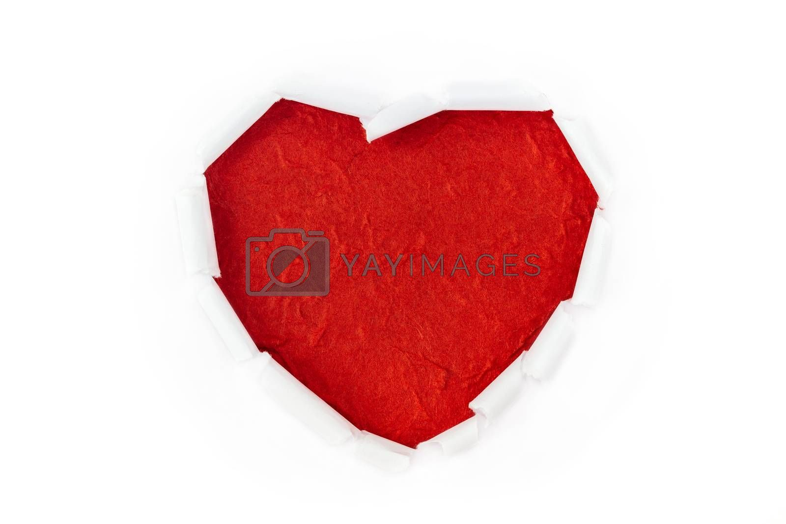 Royalty free image of heart love ripped on white background by blackzheep