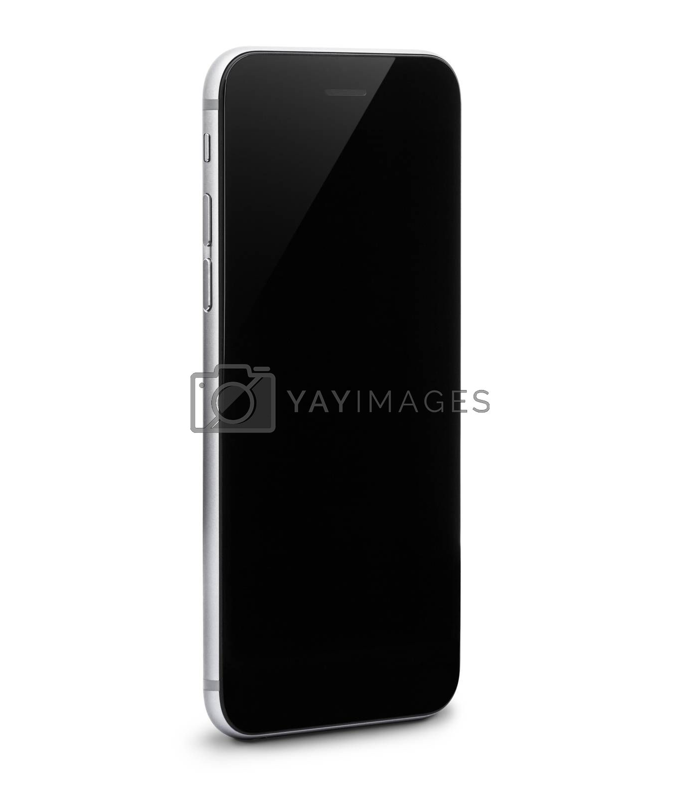 phone isolated with clipping path inside on white background