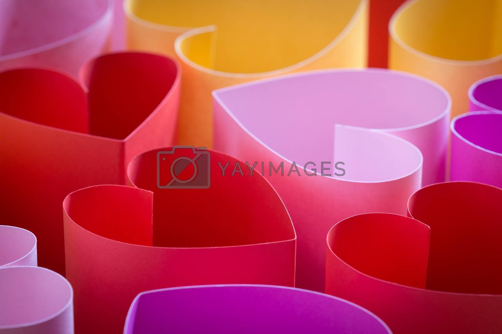 heart paper artificial love symbol