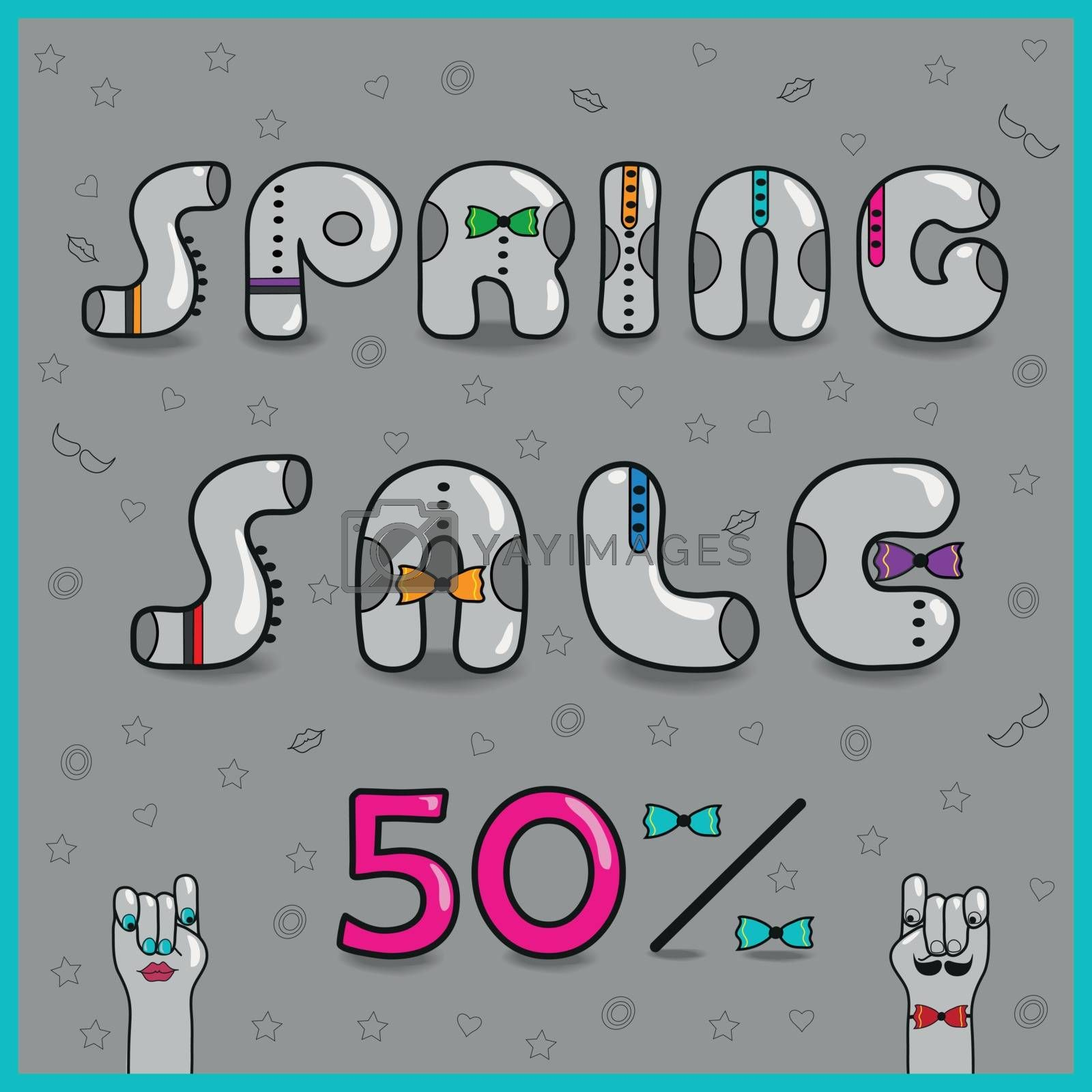 Royalty free image of Inscription Spring Sale. Vector Illustration by prolegowoman