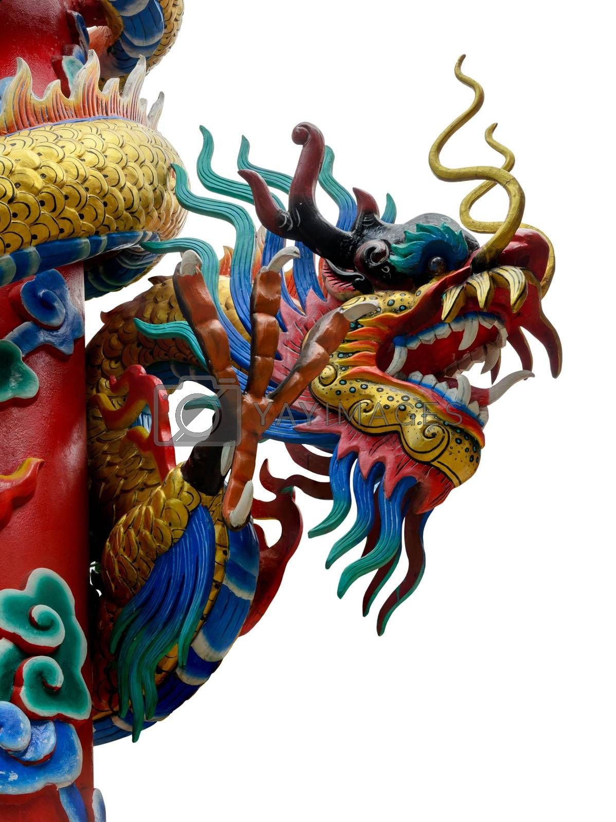 Royalty free image of Chinese style dragon statue. by nikonlike