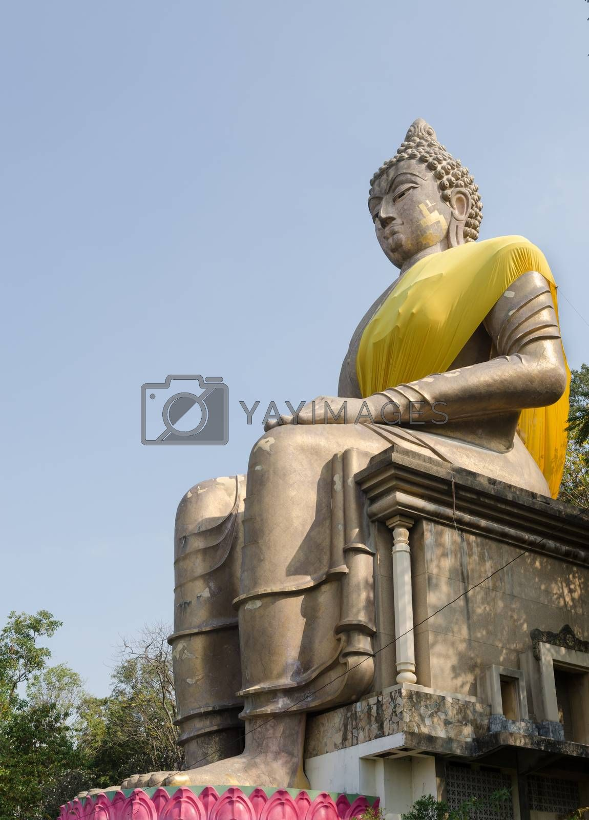 Royalty free image of Stone Buddha image. by nikonlike
