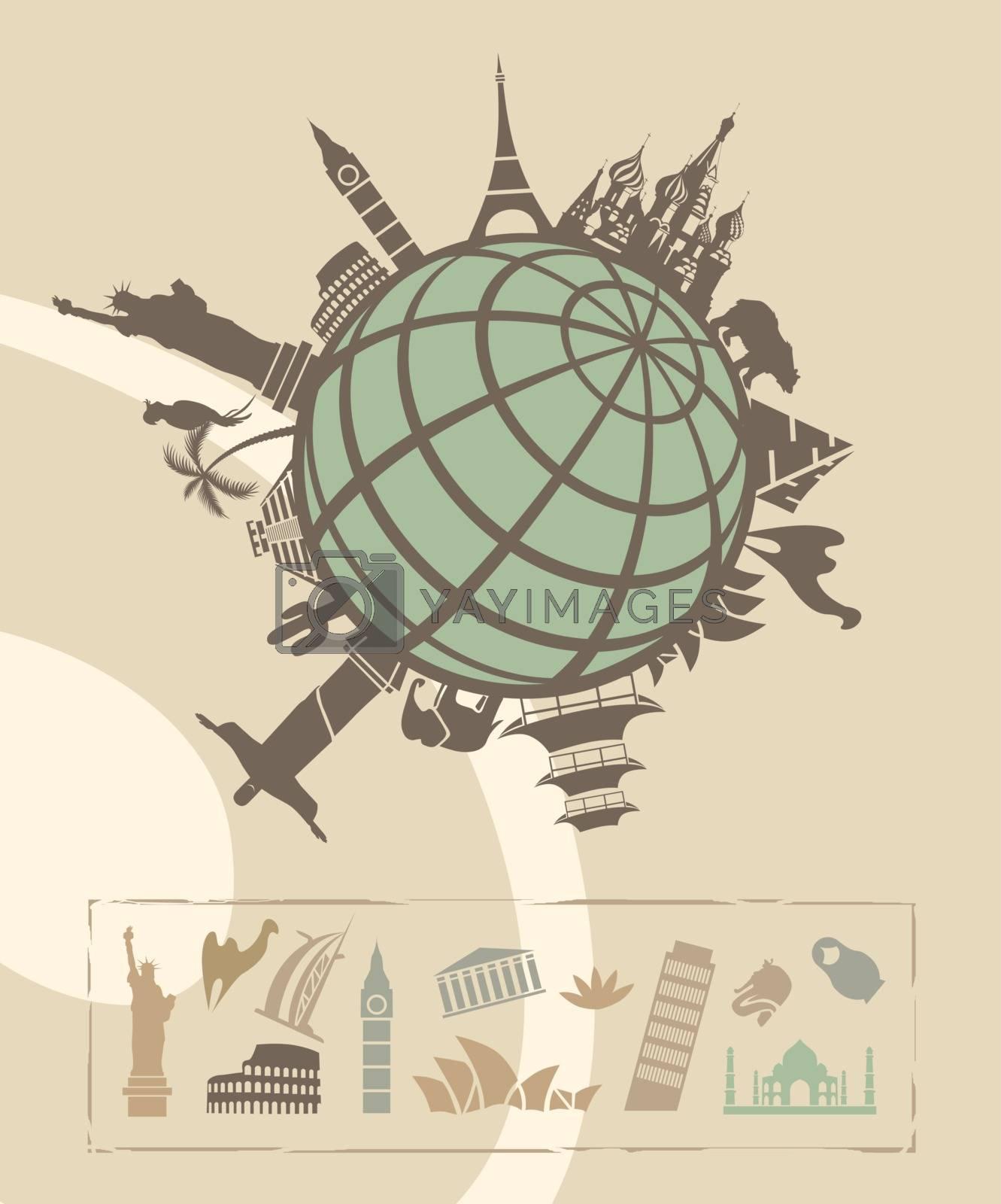 Royalty free image of Landmarks around the World by kisika