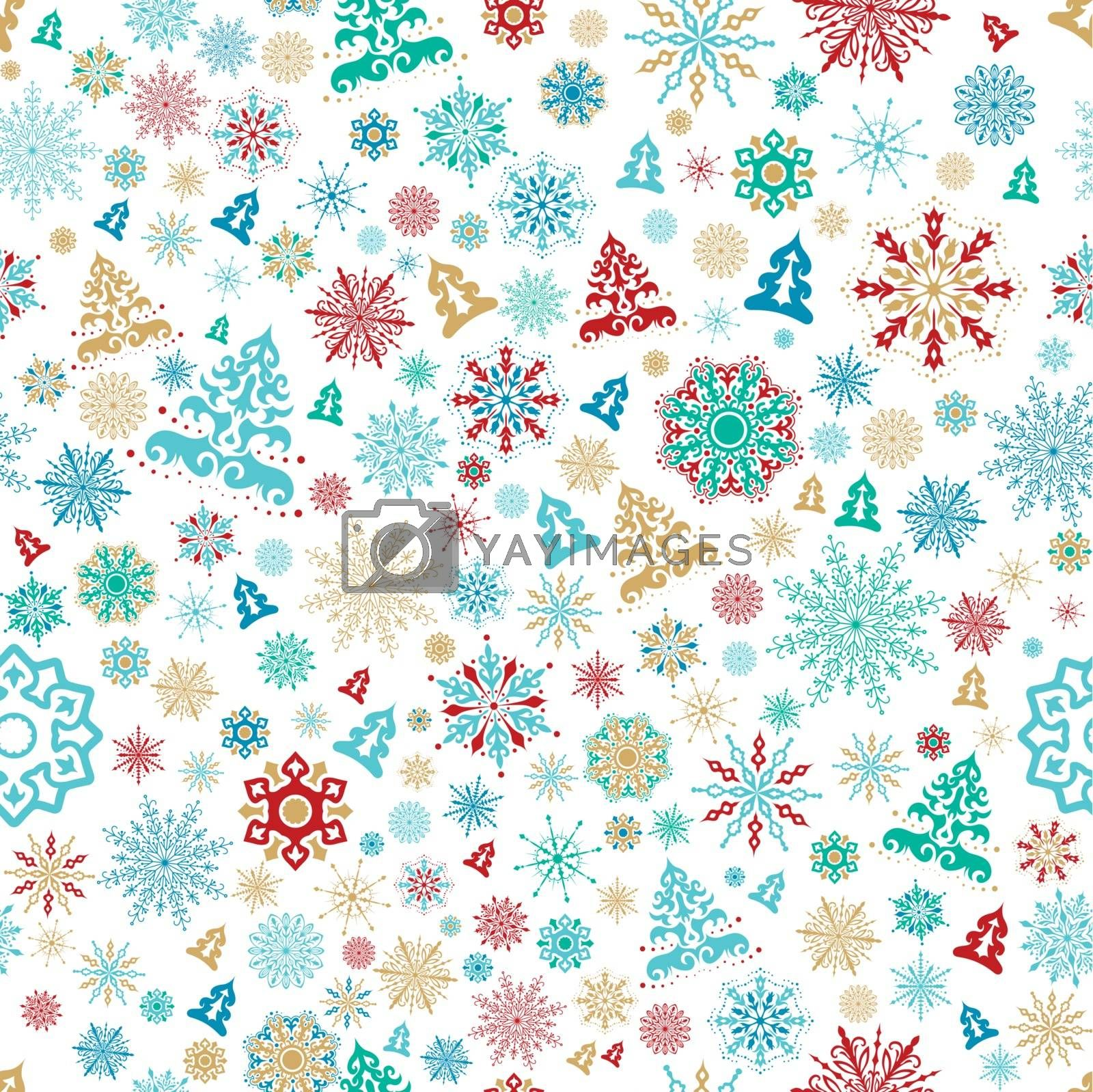 Royalty free image of Seamless christmas pattern by kisika