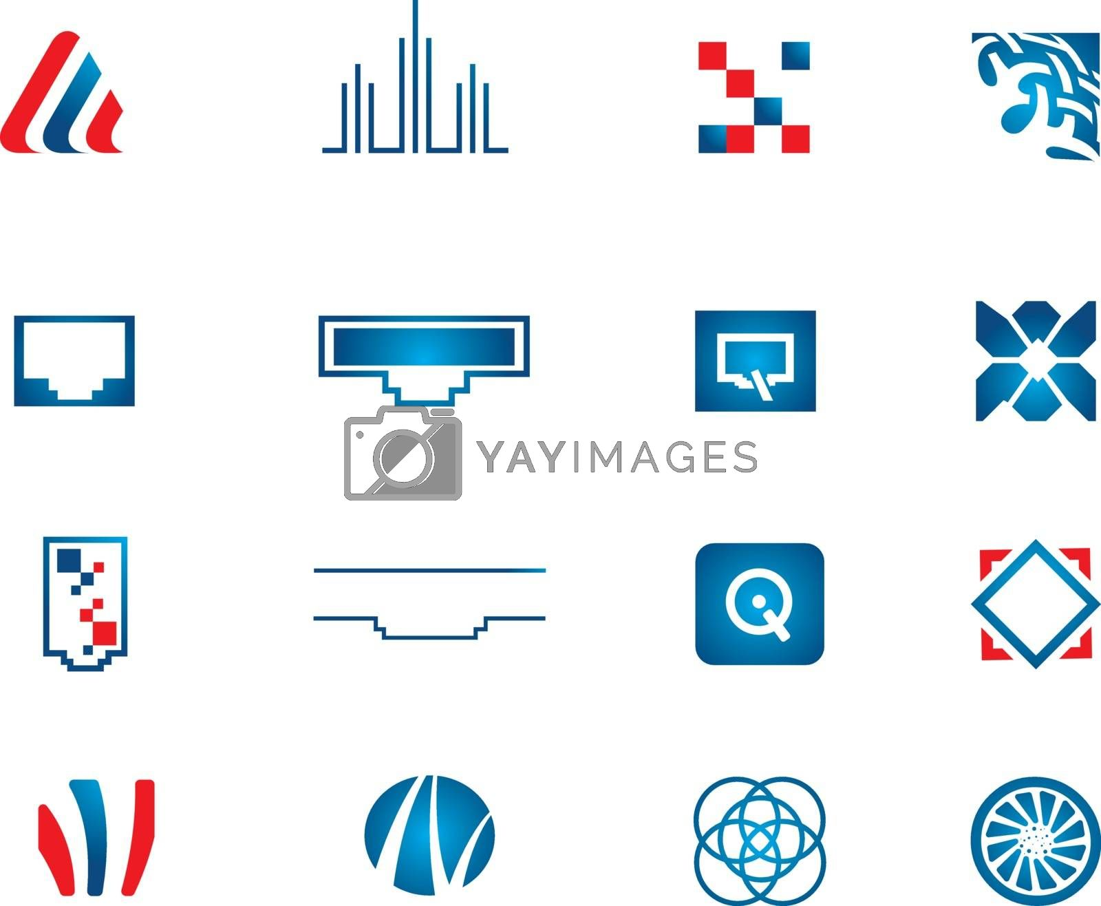 Royalty free image of Vector network icons set  by kisika