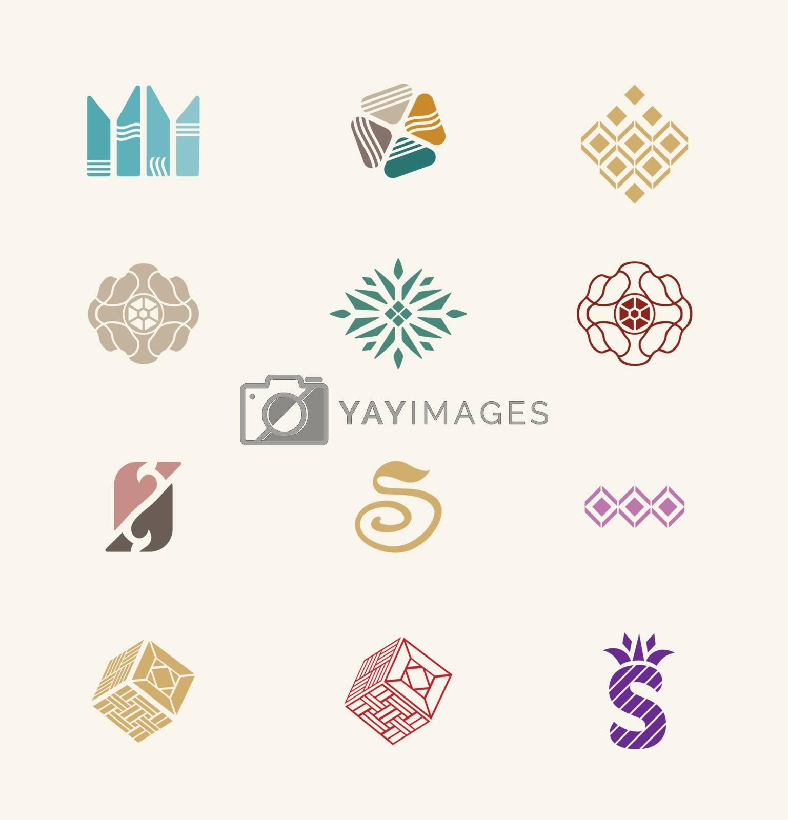 Royalty free image of Stone icons set by kisika