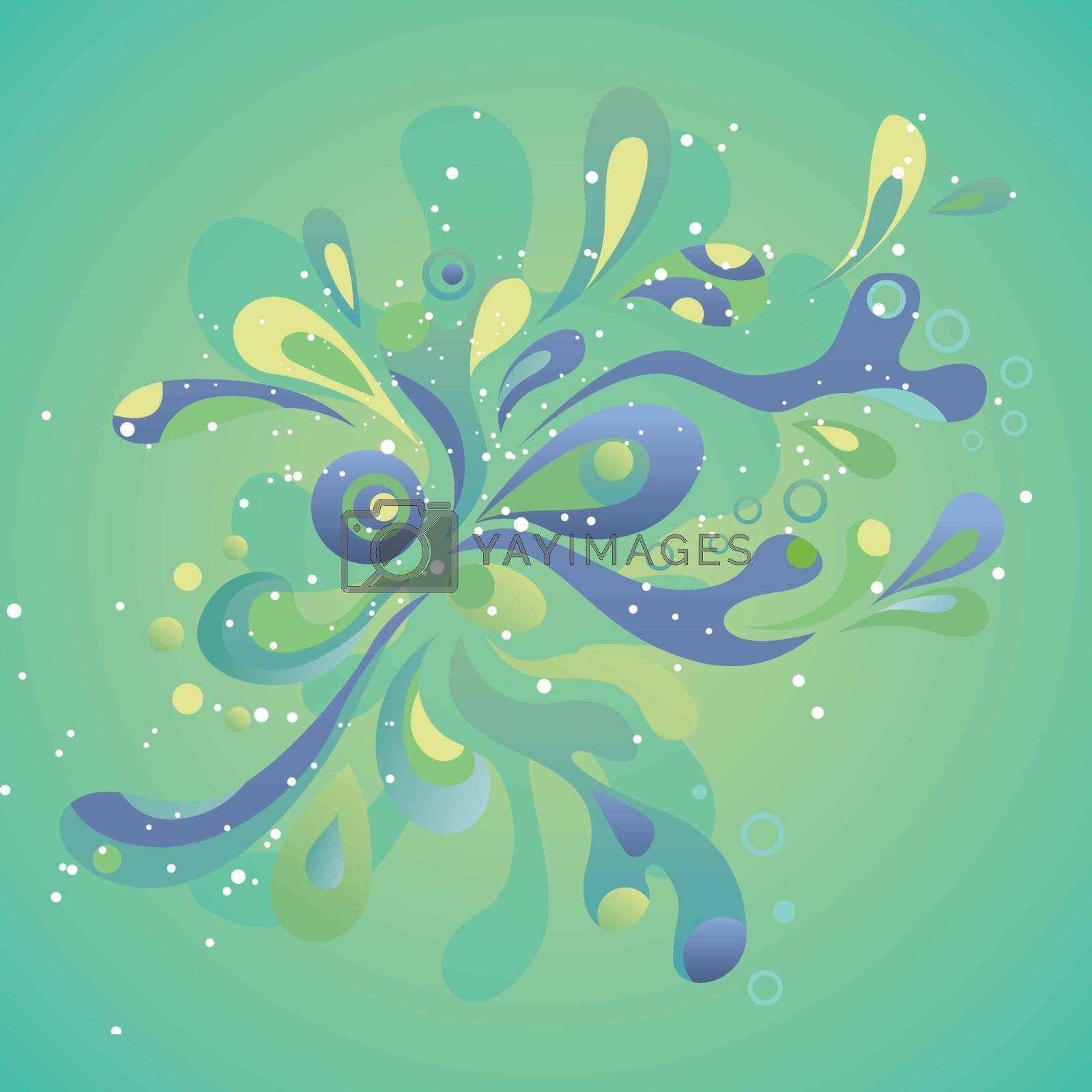 Royalty free image of Abstract splash background by kisika