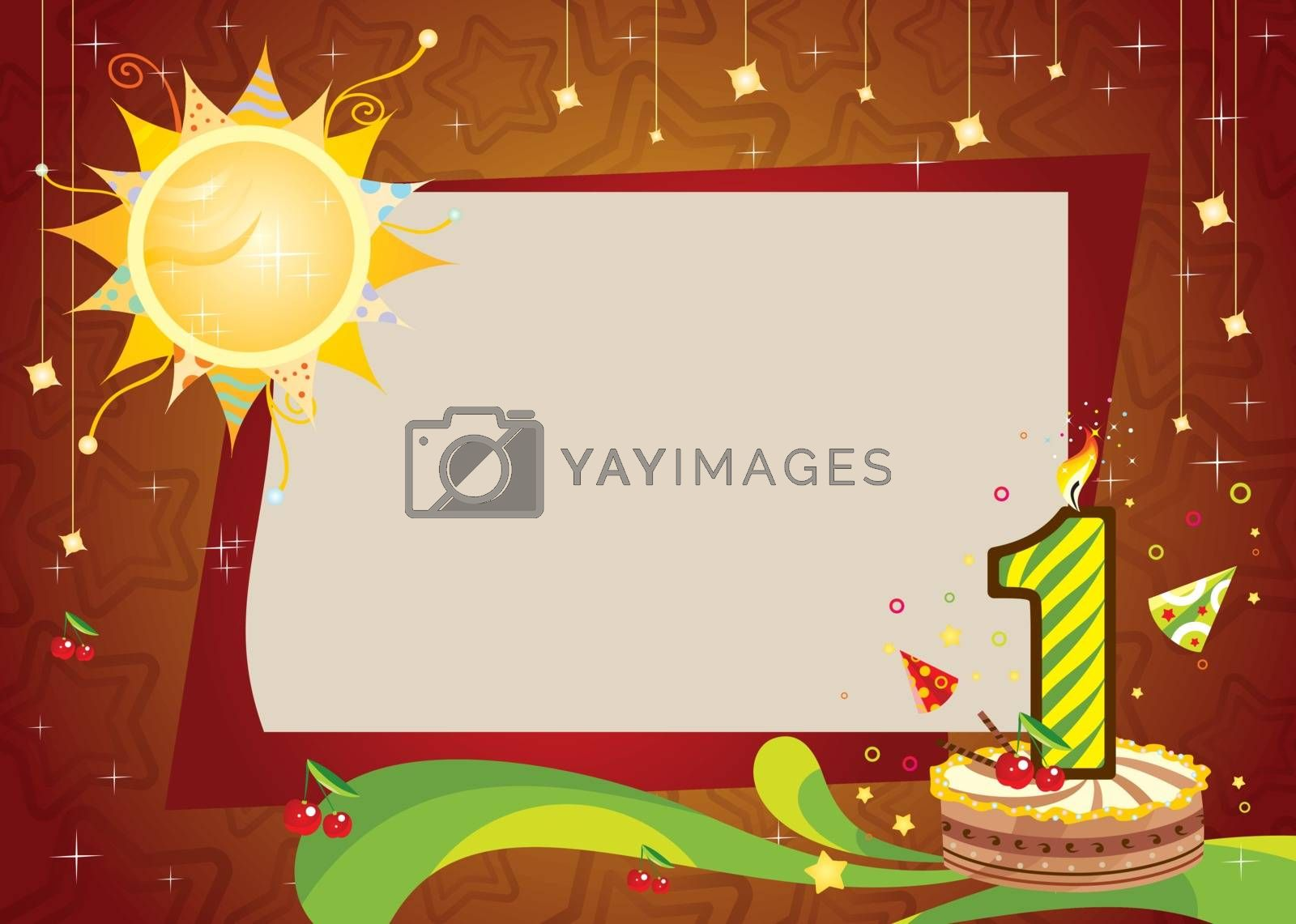 Royalty free image of First birthday frame  by kisika