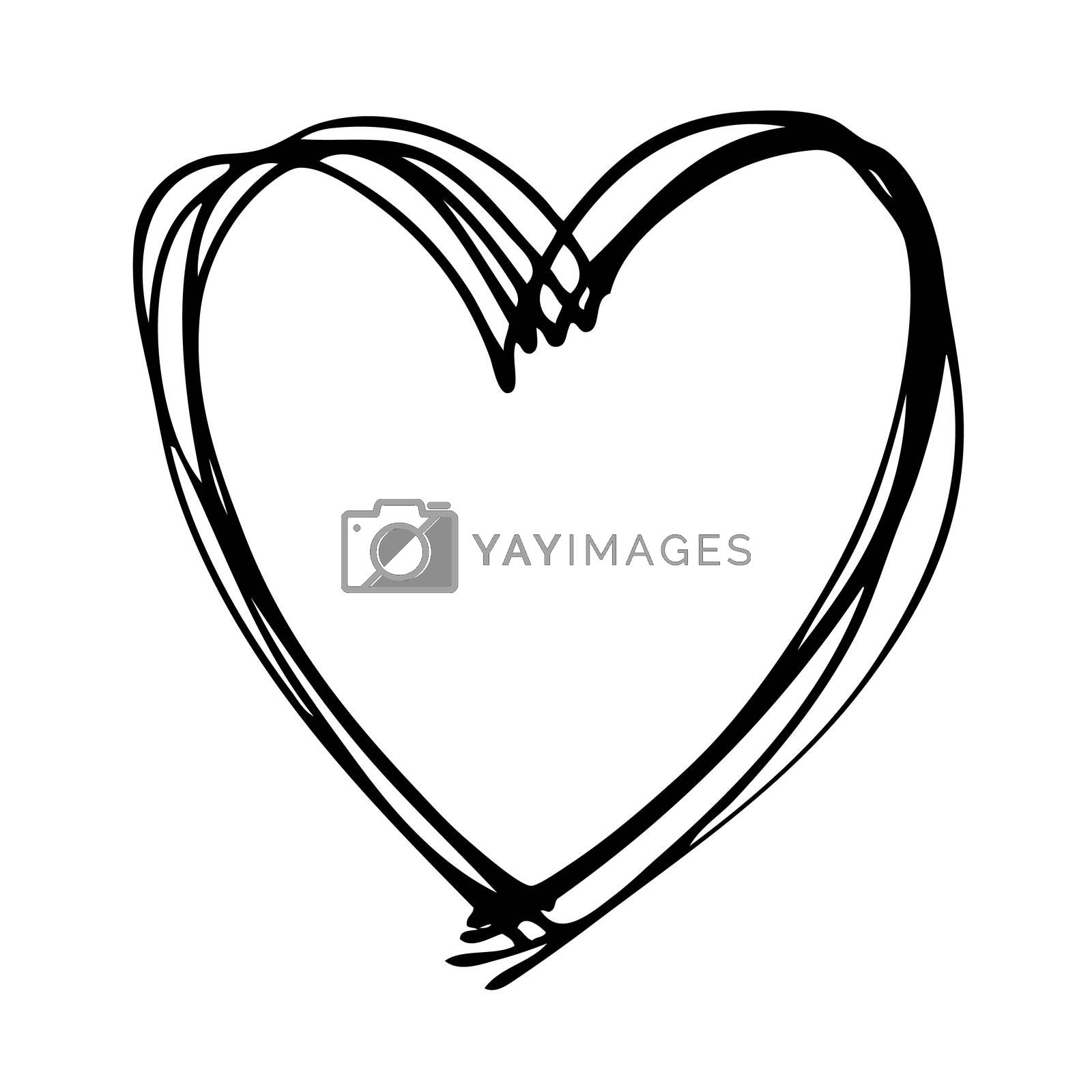 Royalty free image of doodle heart by simpleBE